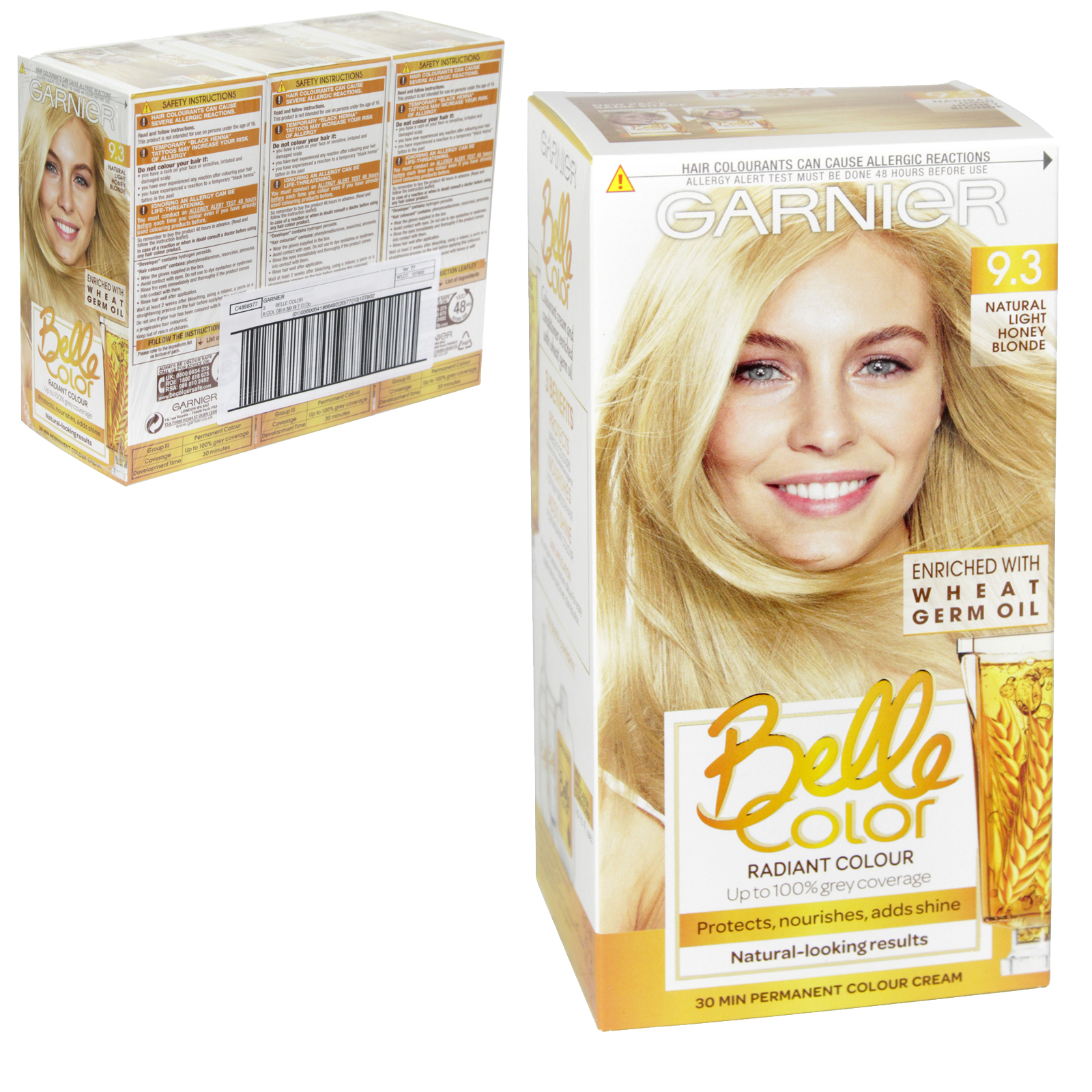 BELLE COLOR 9.3 NATURAL LIGHT HONEY/BEIGE BLONDE X3