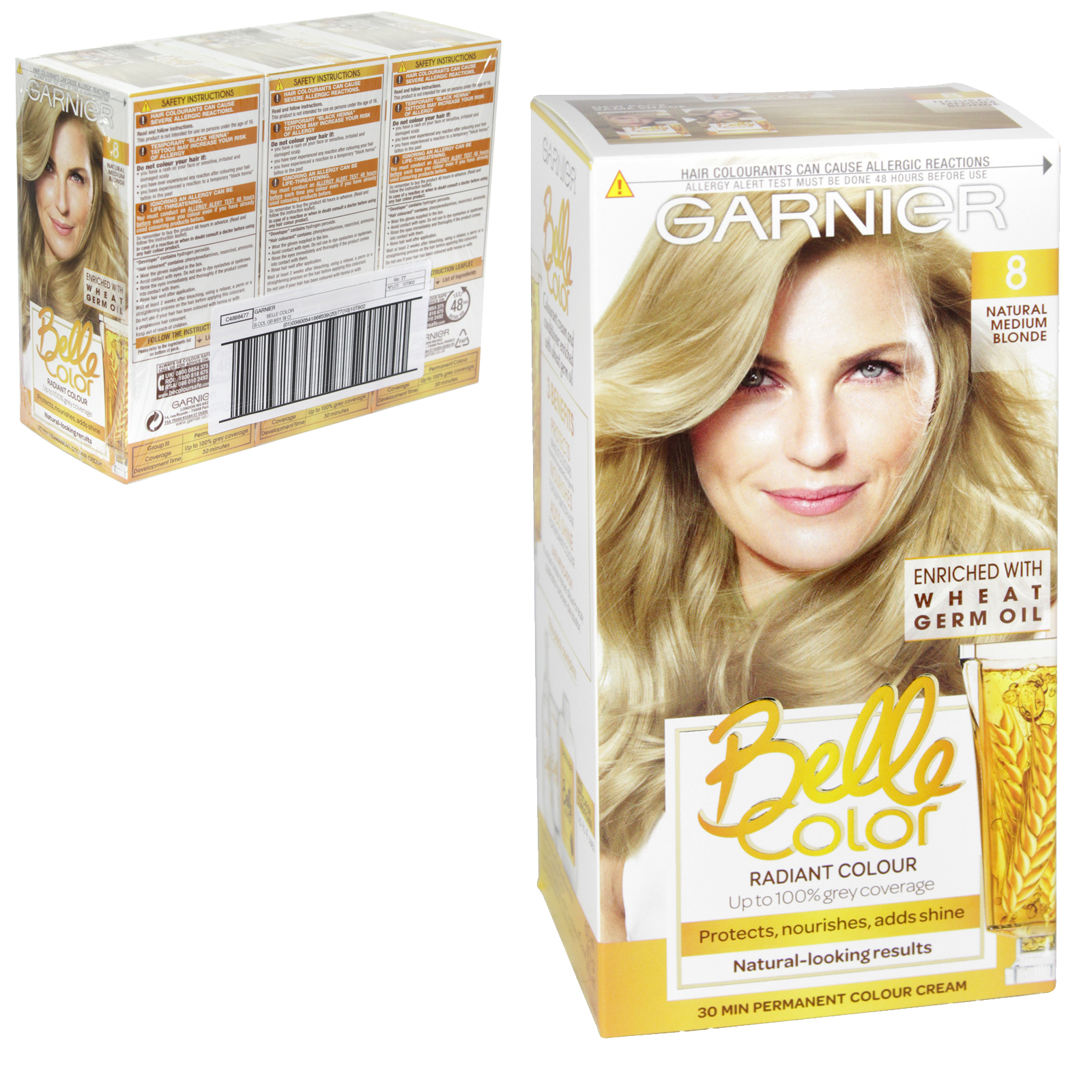 BELLE COLOR 8 NATURAL MEDIUM BLONDE X3