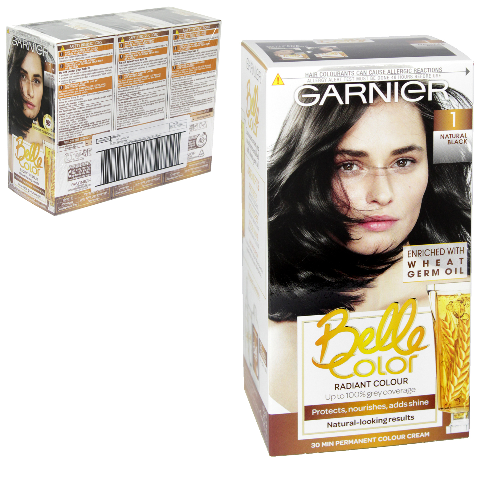BELLE COLOR 1 NATURAL BLACK X3