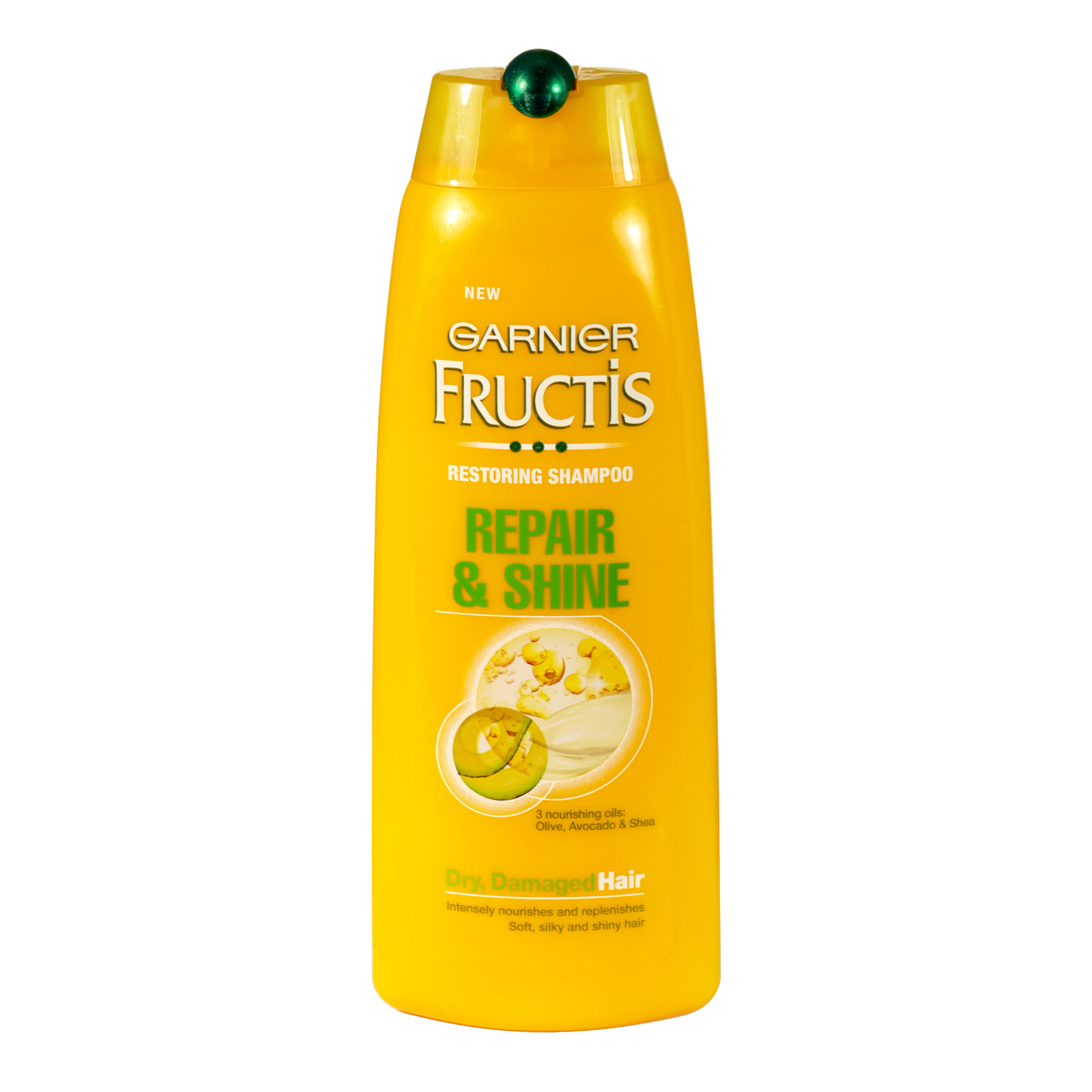 GARNIER FRUCTIS SHAMPOO 250ML REPAIR+SHINE DAMAGED HAIR X6