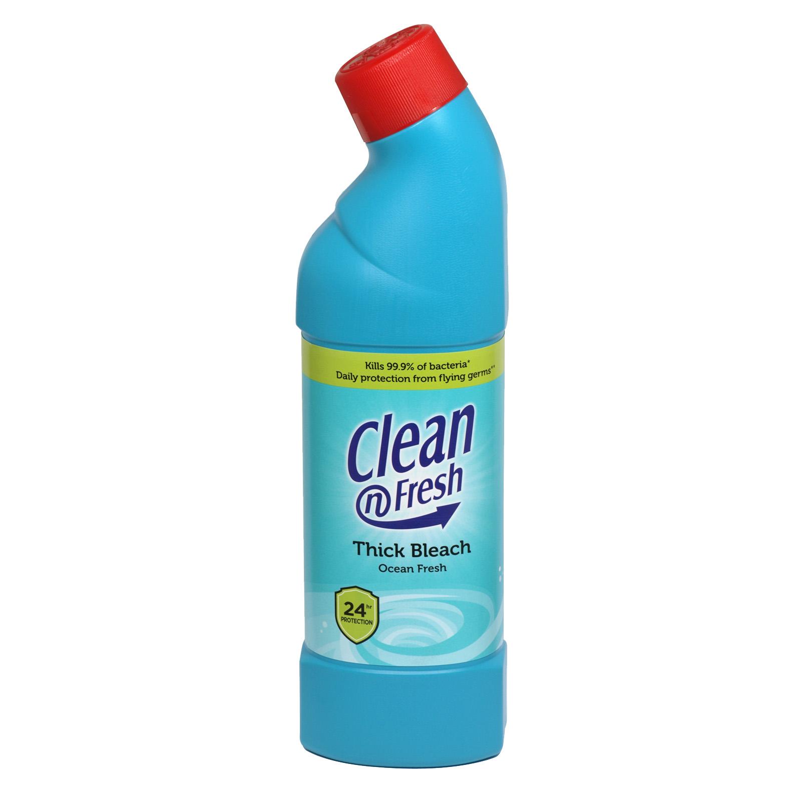 CLEAN+FRESH 750ML THICK BLEACH OCEAN FRESH X12