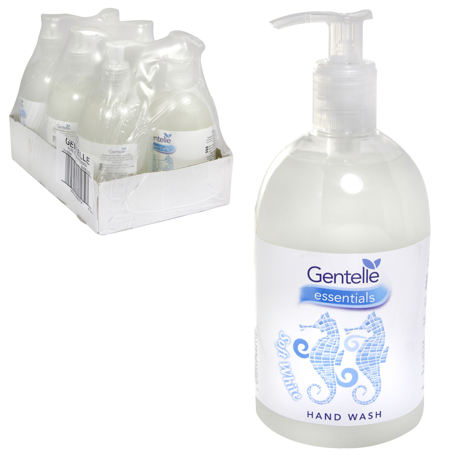 GENTELLE HAND WASH 500ML SOFT WHITE X6