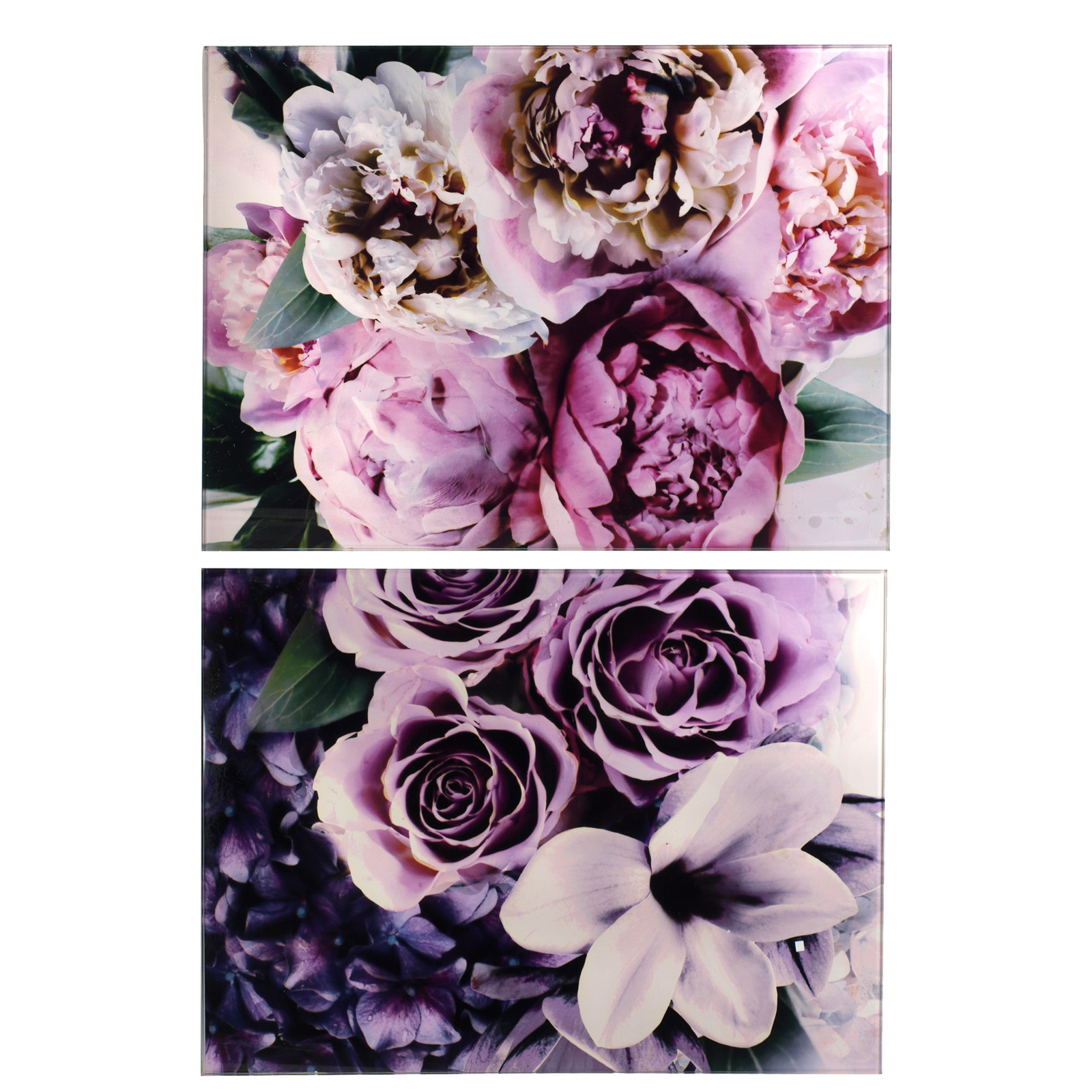 SIL BLOOM SET OF 2 GLASS PLACEMATS