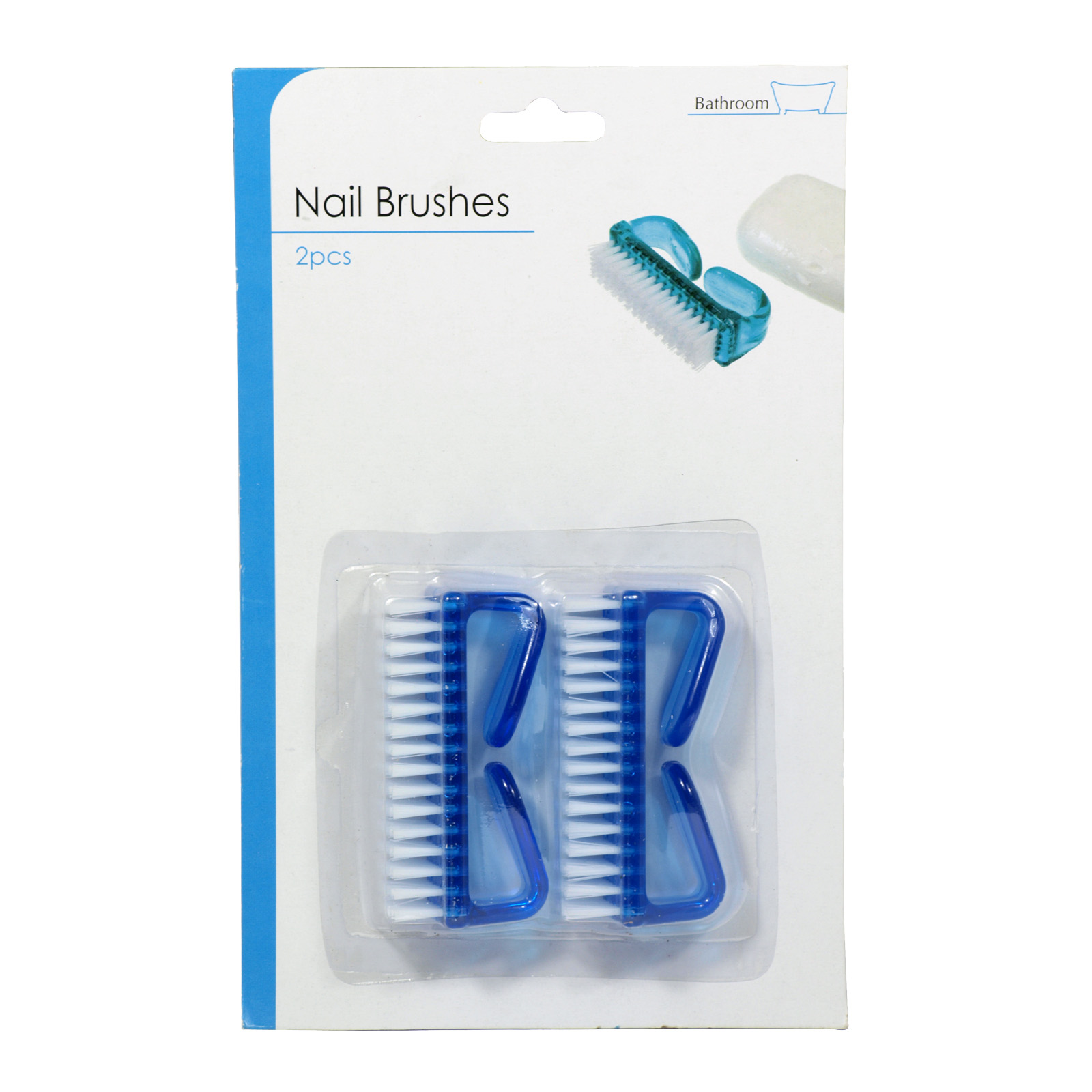 SIL NAIL BRUSHES 2PK ASSORTED PLASTIC X12
