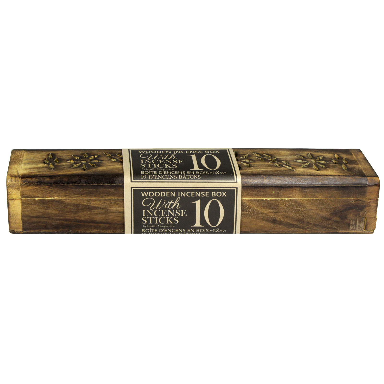 SIL MANGO WOOD INCENSE BOX 31X5CM