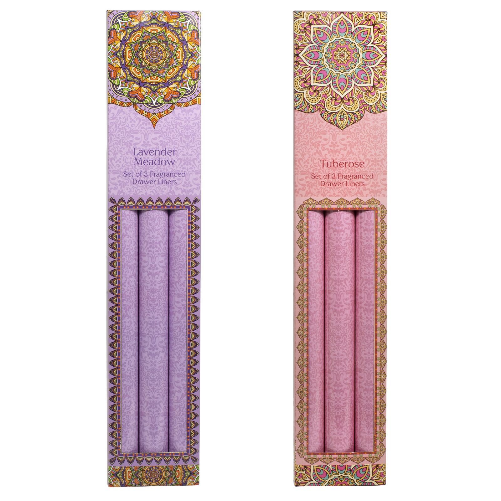 SIL ROSE/LAVENDER DRAWER LINERS 3PK