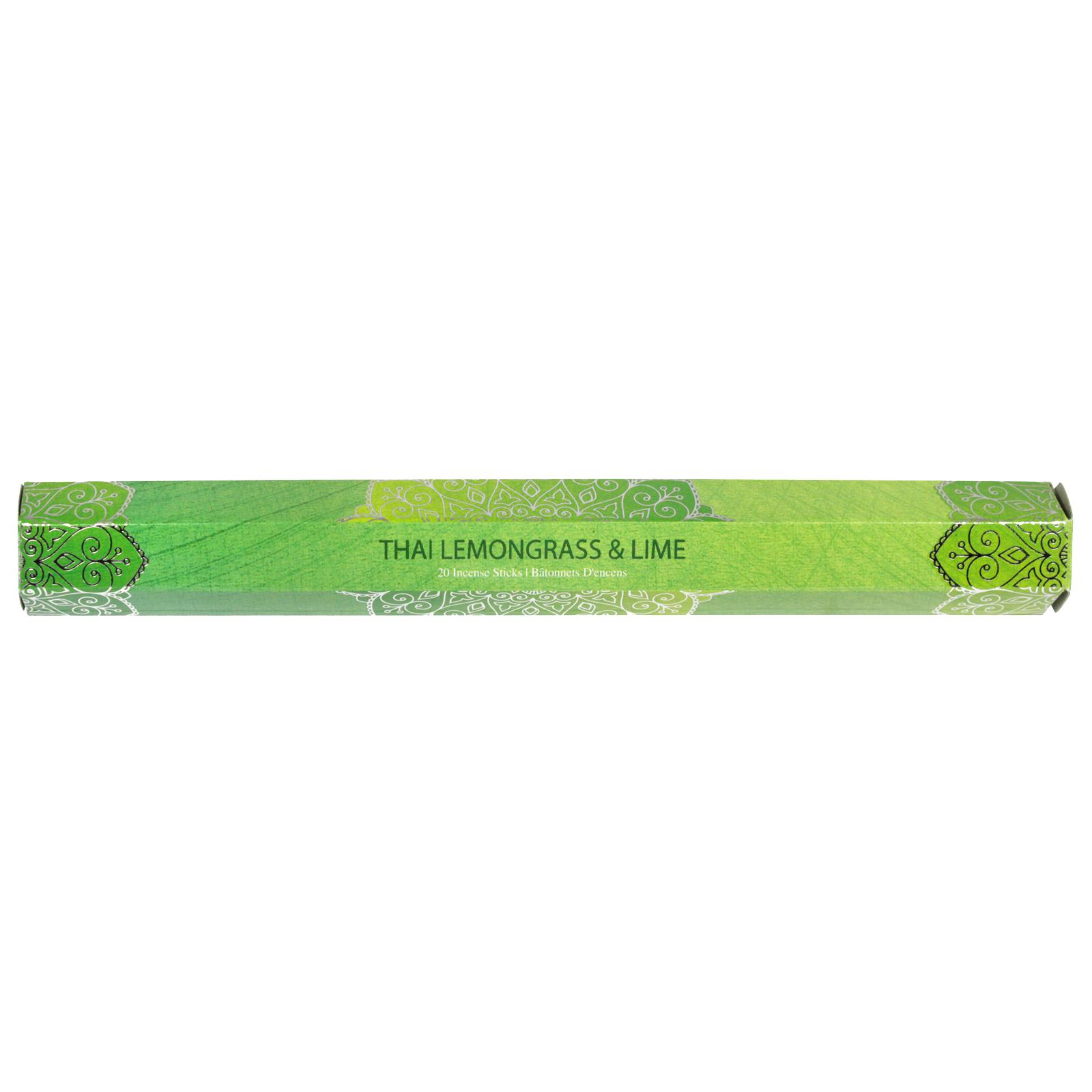 SIL INCENSE STICKS 20PK THAI LEMON GRASS+LIME