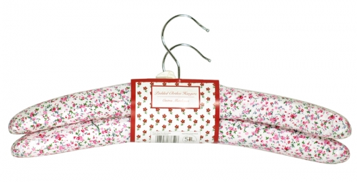 SIL 2PK DITSY FLORAL HANGERS X12