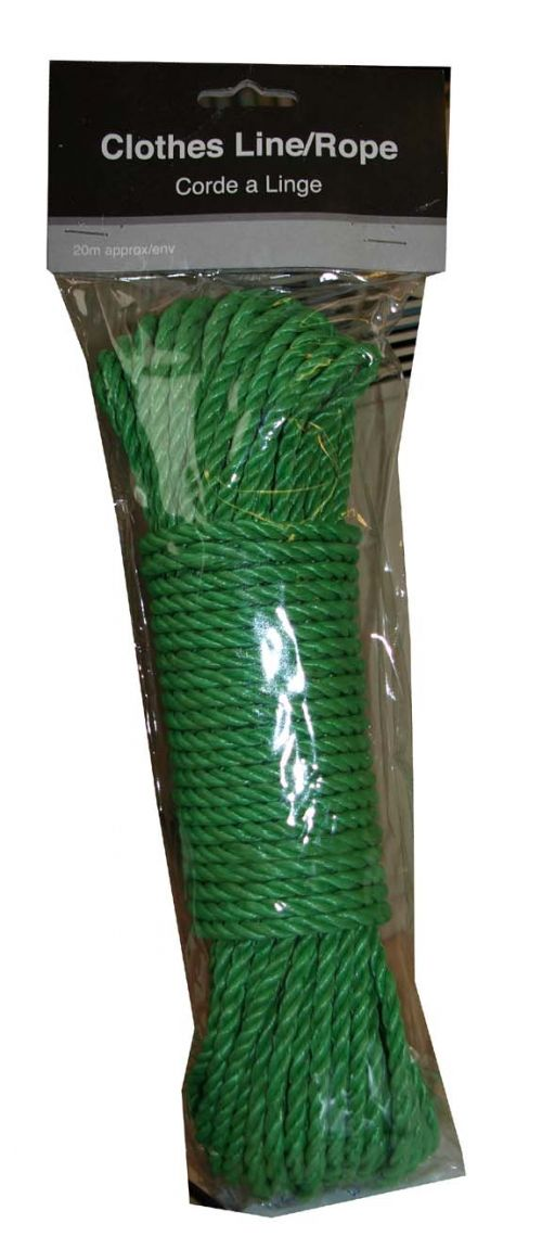 SIL PP ROPE/CLOTHES LINE 18M BLUE OR GREEN