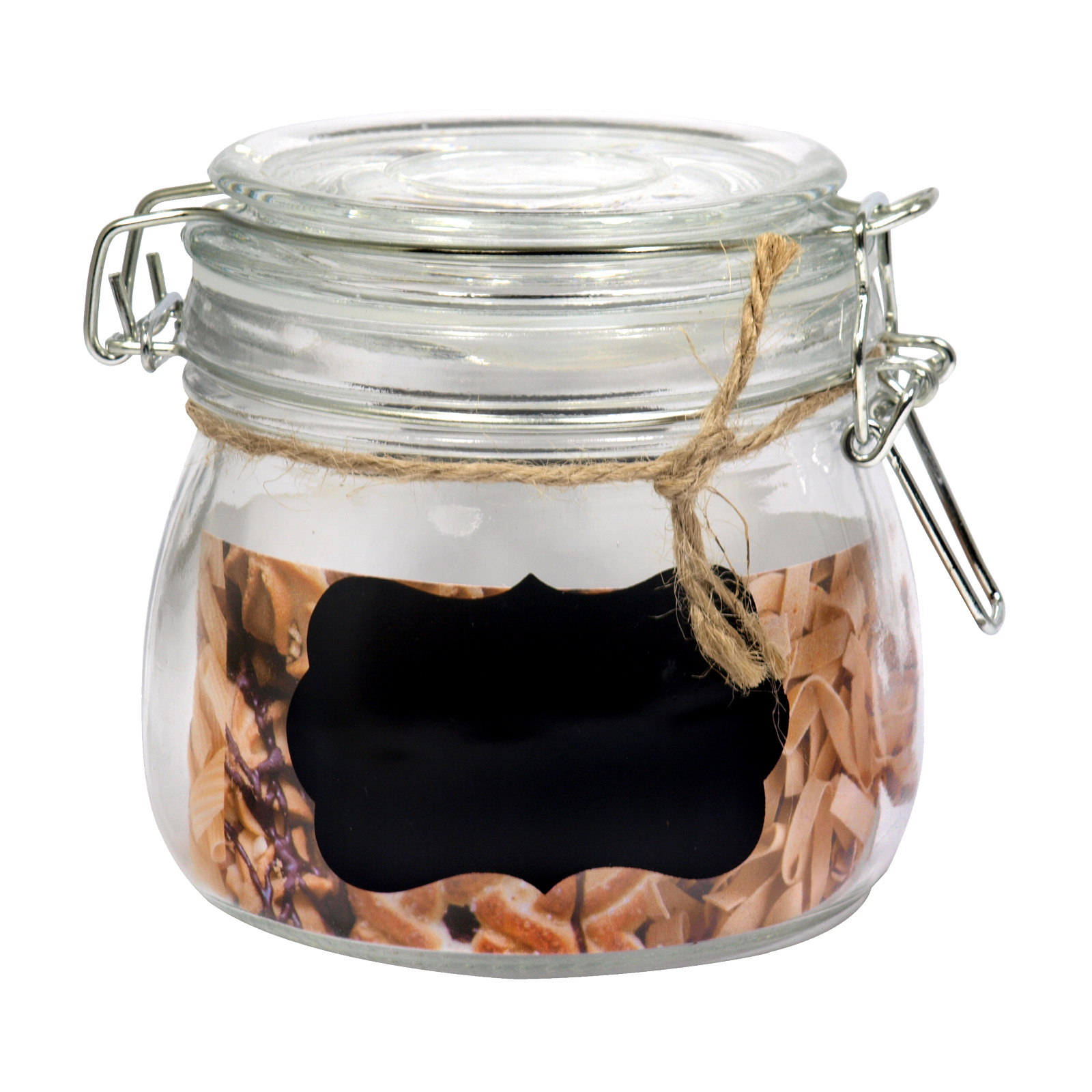 SIL GLASS STORAGE JAR+CHALKBOARD 10CMX12CM
