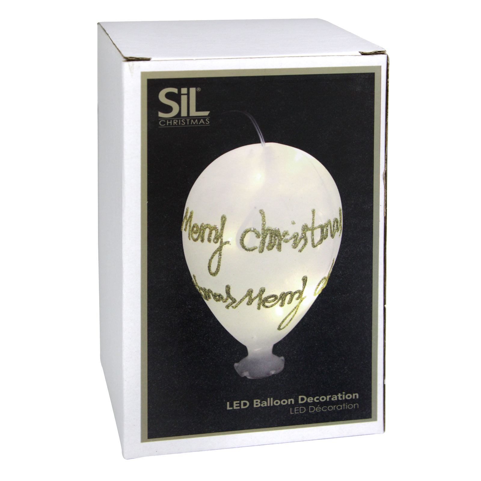 X-MAS LED BALLOON 15CM GOLD