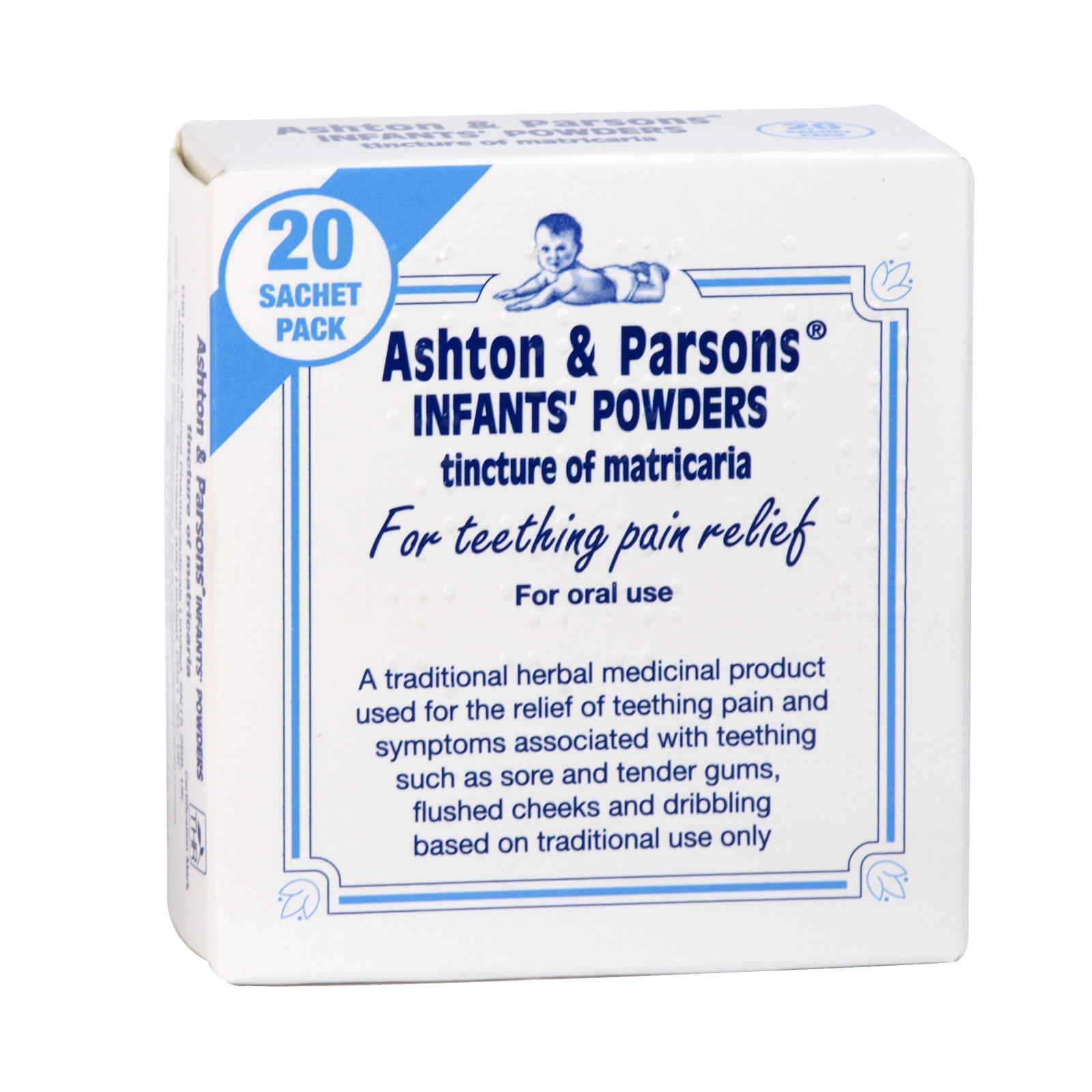 ASHTON & PARSONS 20 INFANT POWDERS (NON RETURNABLE)