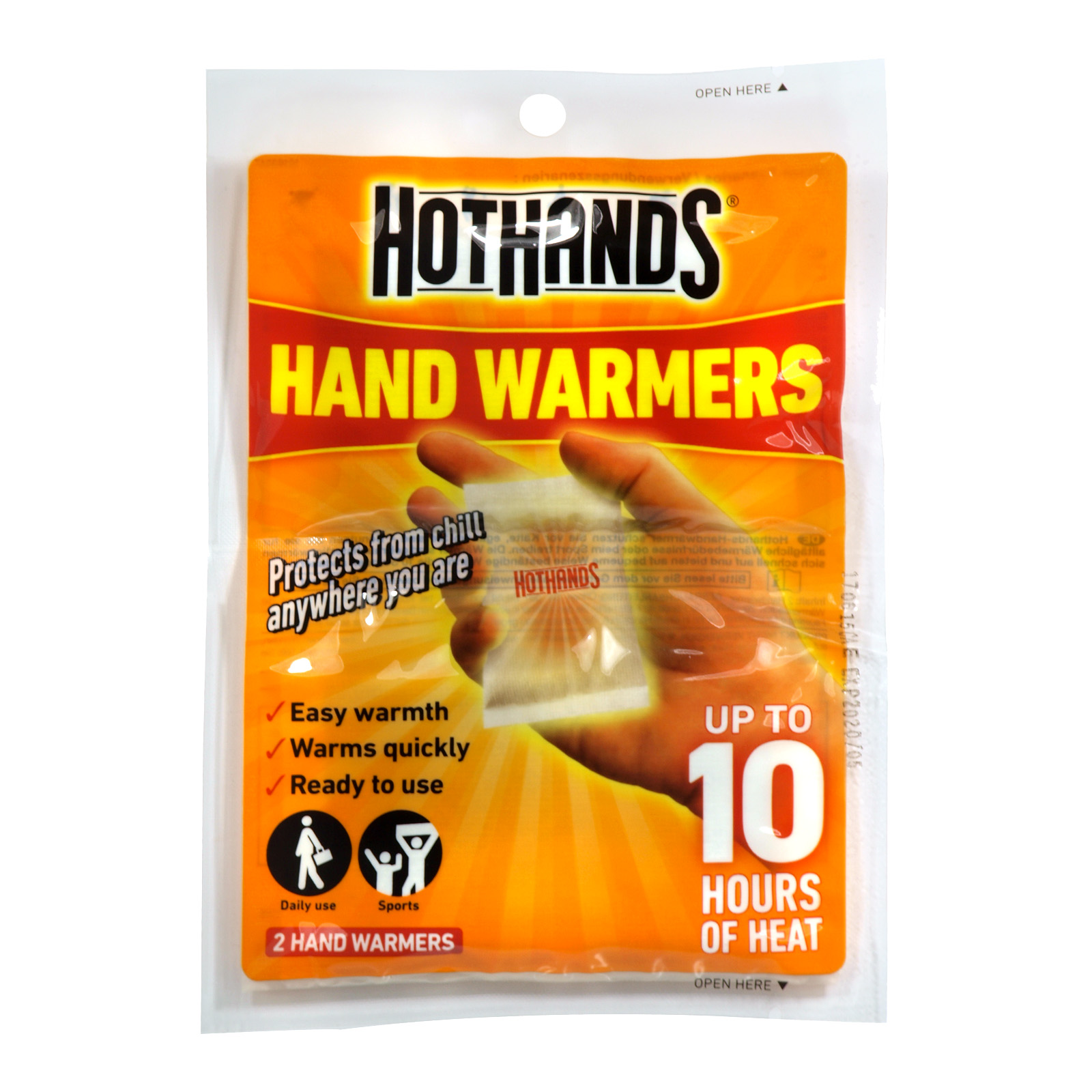 HOTHANDS 1PAIR HAND WARMERS CLIP STRIP X12