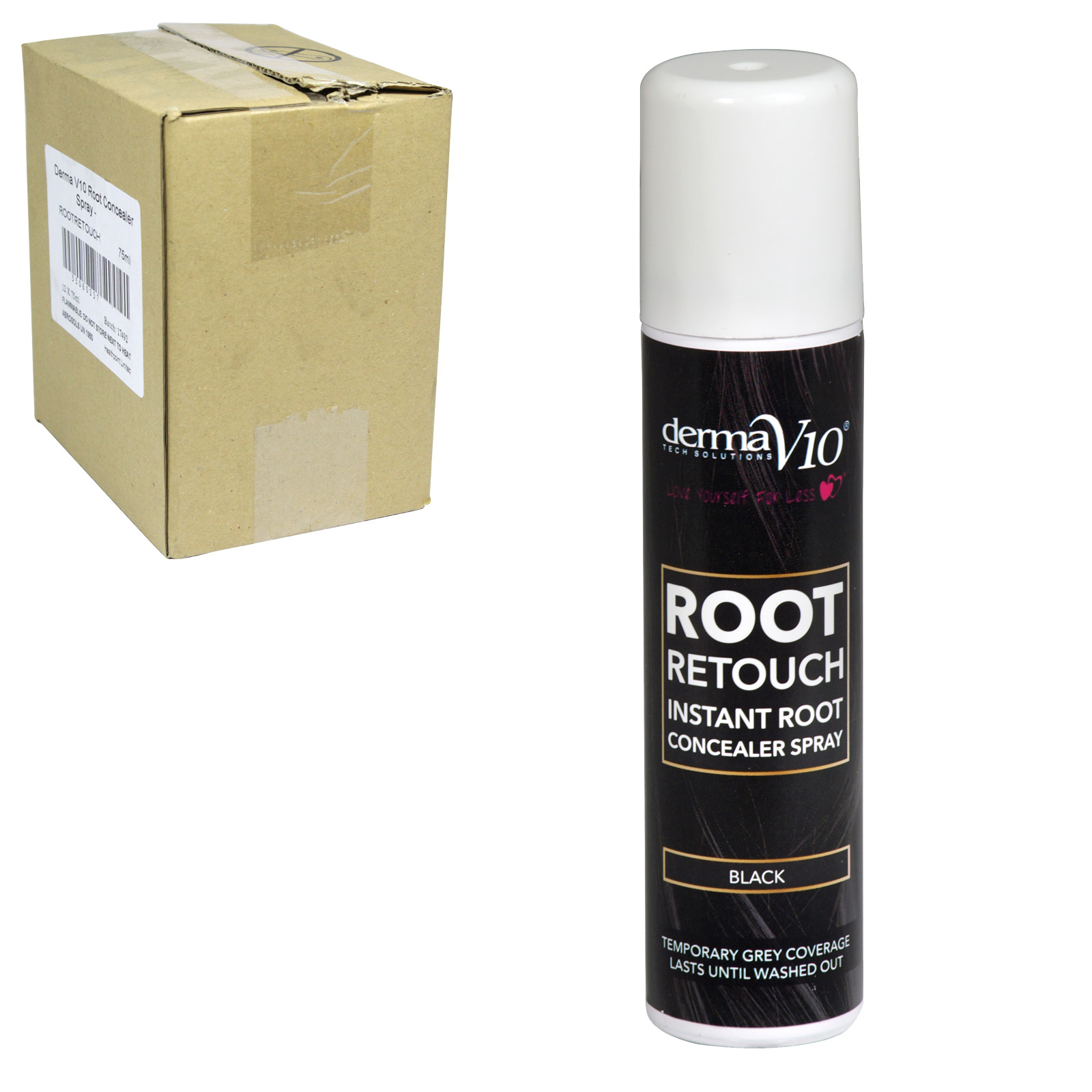 DERMA V10 ROOT RETOUCH 75ML BLACK X12
