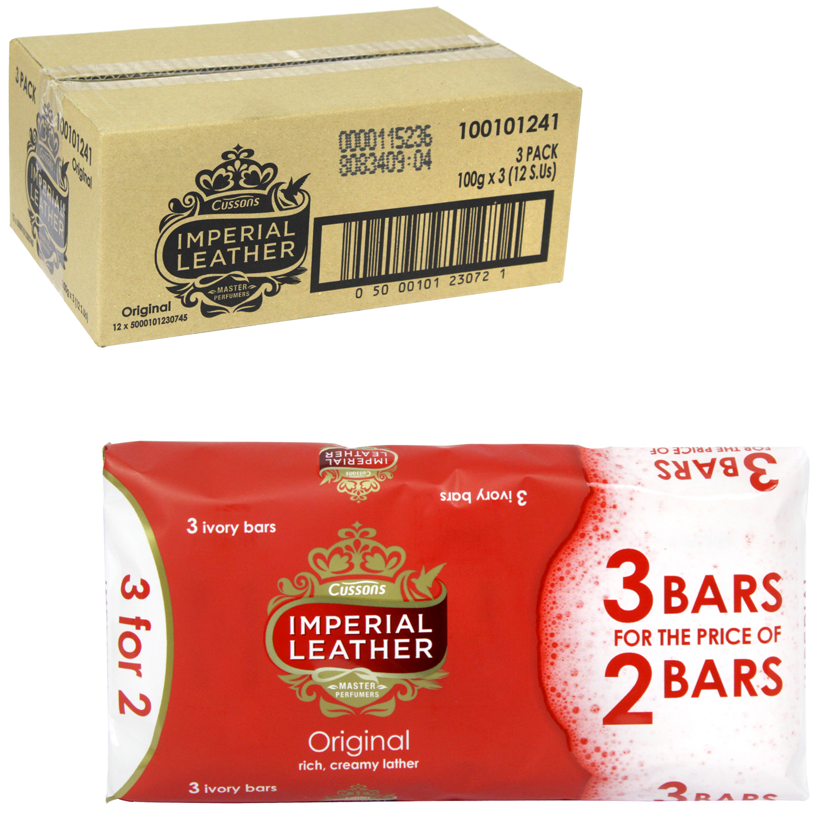 IMPERIAL LEATHER SOAP 3X100GM ORIGINAL PM ?1 X12