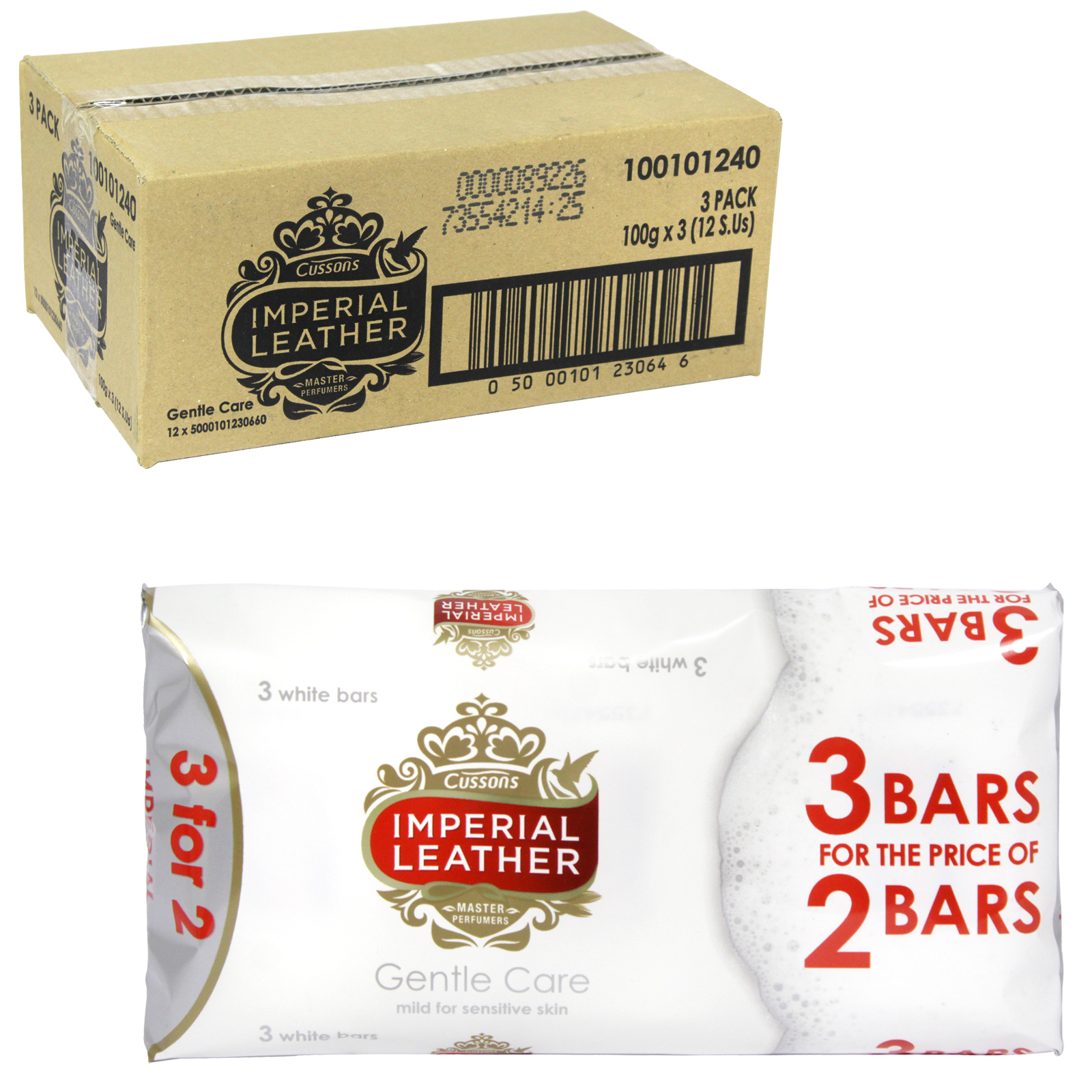 IMPERIAL LEATHER SOAP 3X100GM GENTLE CARE PM ?1 X12