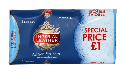 IMPERIAL LEATHER 3X100GM ACTIVE MEN PM ?1 X12