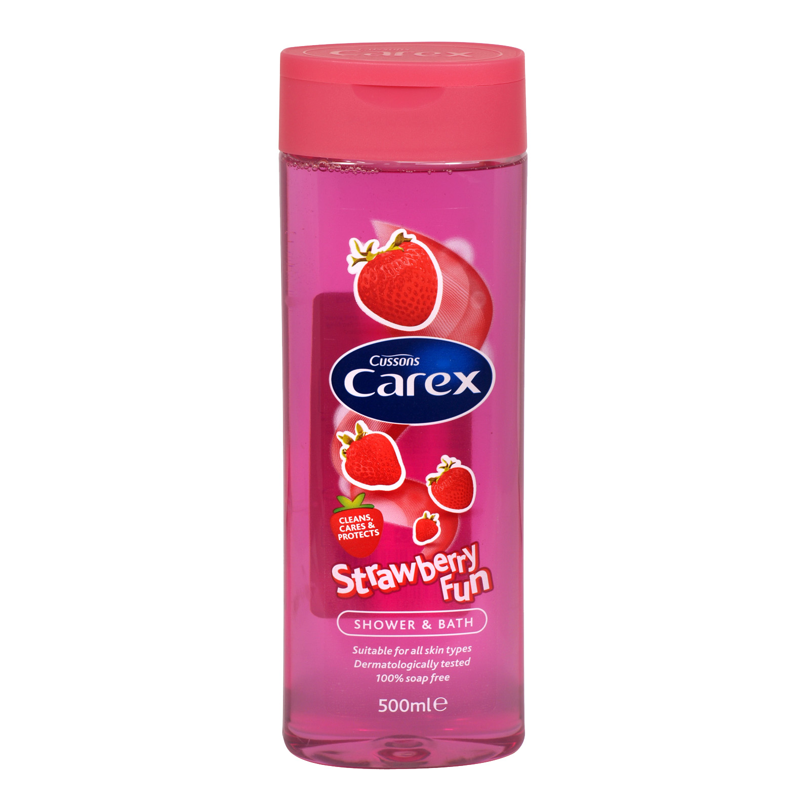 CAREX SHOWER GEL 500ML STRAWBERRY X6