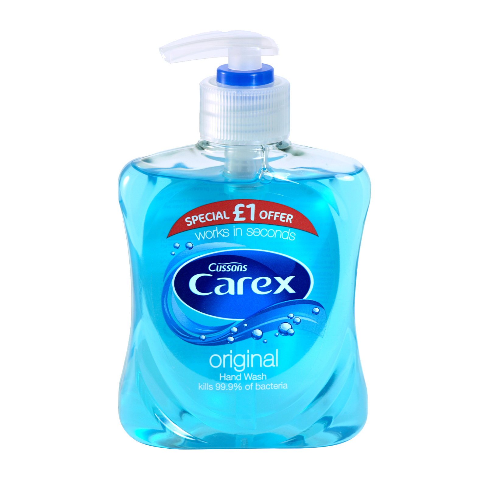 CAREX HANDWASH 250ML ORIGINAL PM£1 X6
