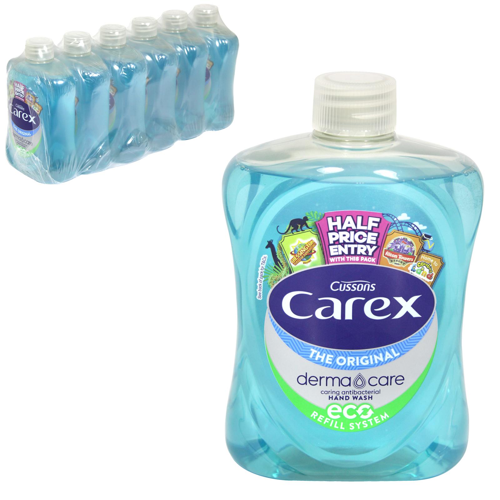 CAREX ANTI-BAC LIQUID SOAP 500ML ORIGINAL BLUE SCREW TOP X6