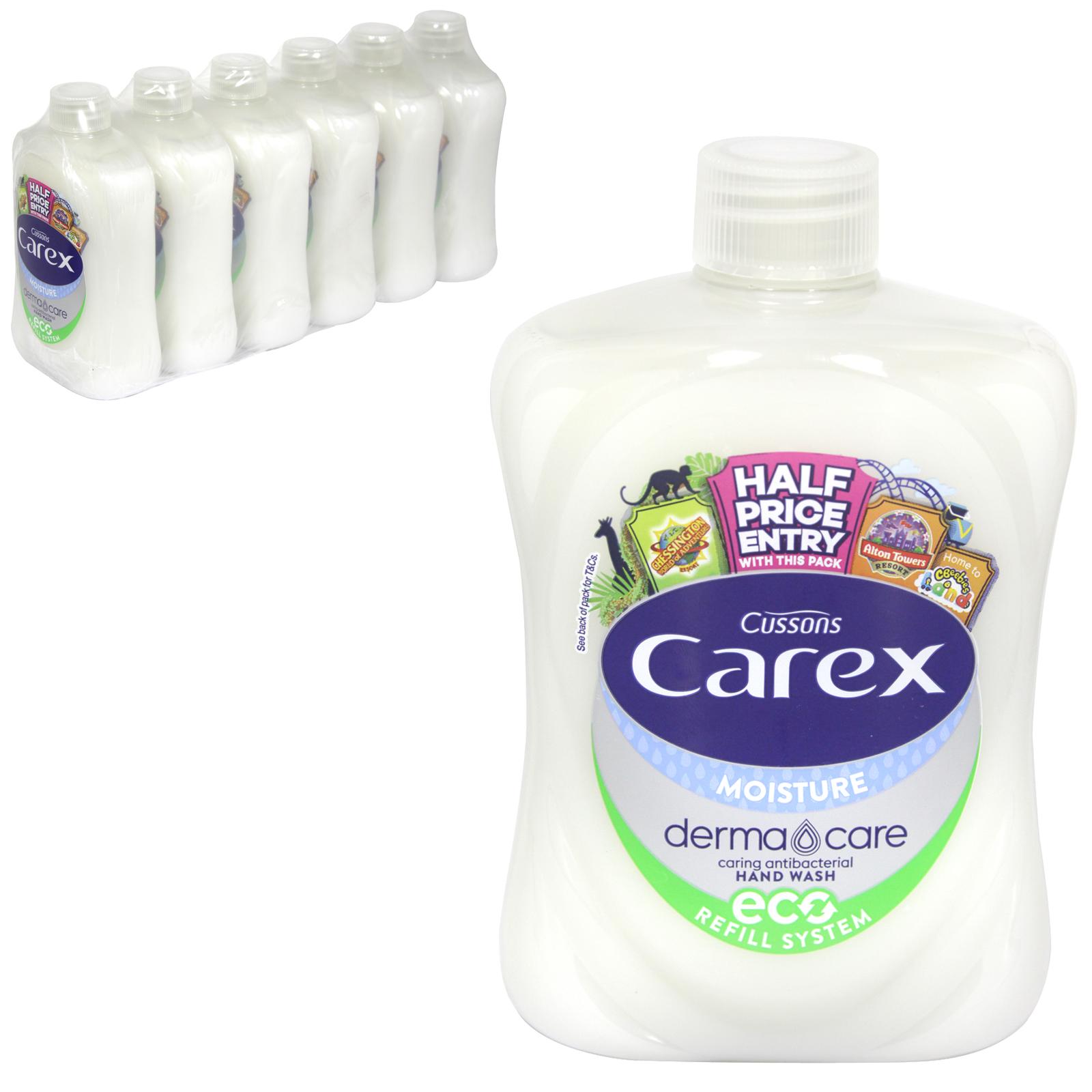 CAREX ANTI-BAC LIQUID SOAP 500ML MOISTURE WHITE SCREW TOP X6