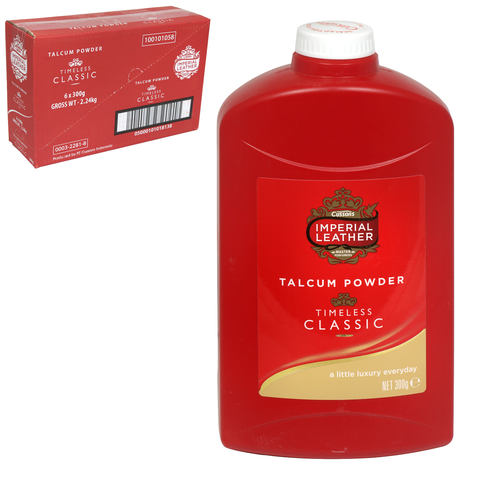 IMPERIAL LEATHER TALC 300GM ORIGINAL TIMELESS CLASSIC  X6