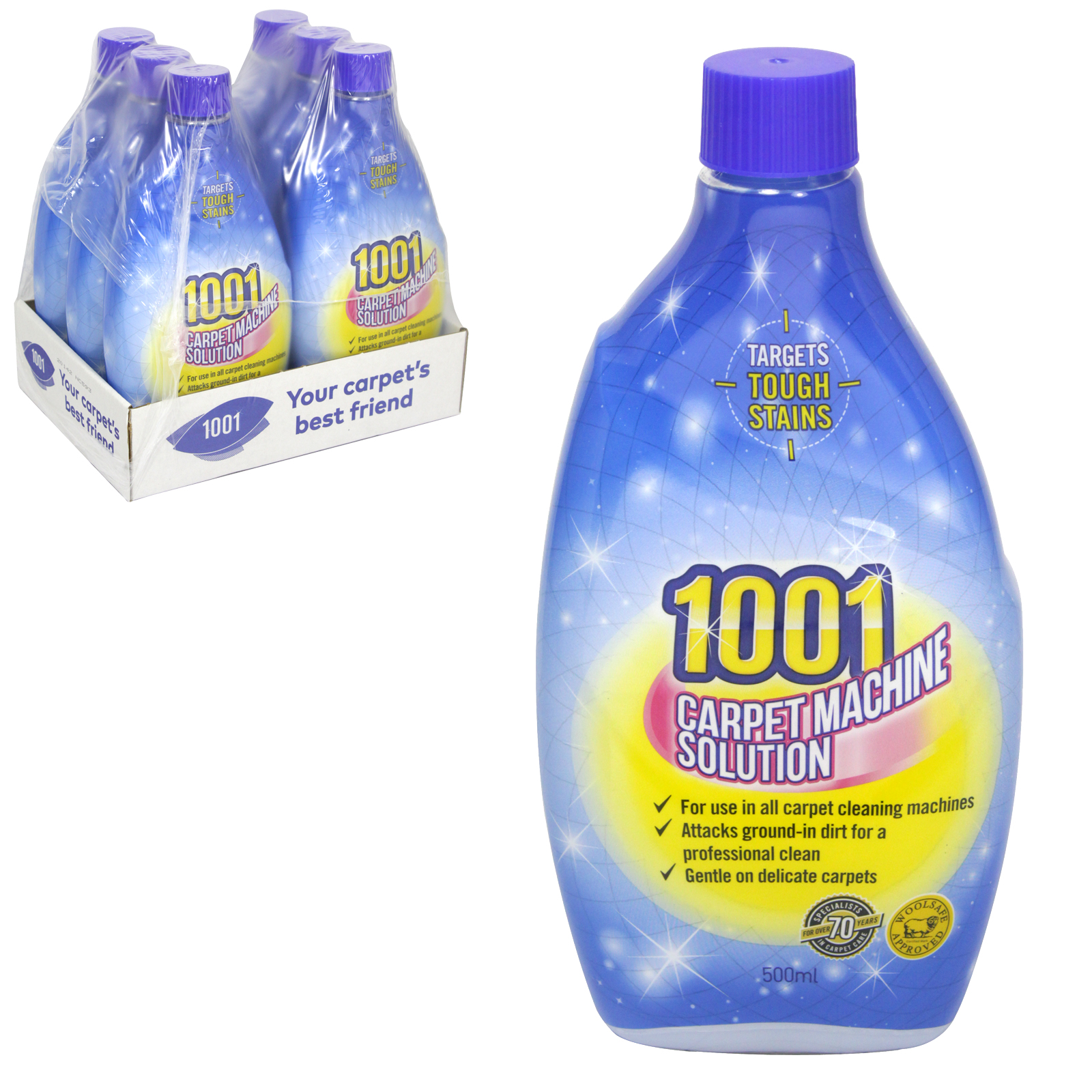 1001 CARPET MACHINE SOLUTION 500ML X6