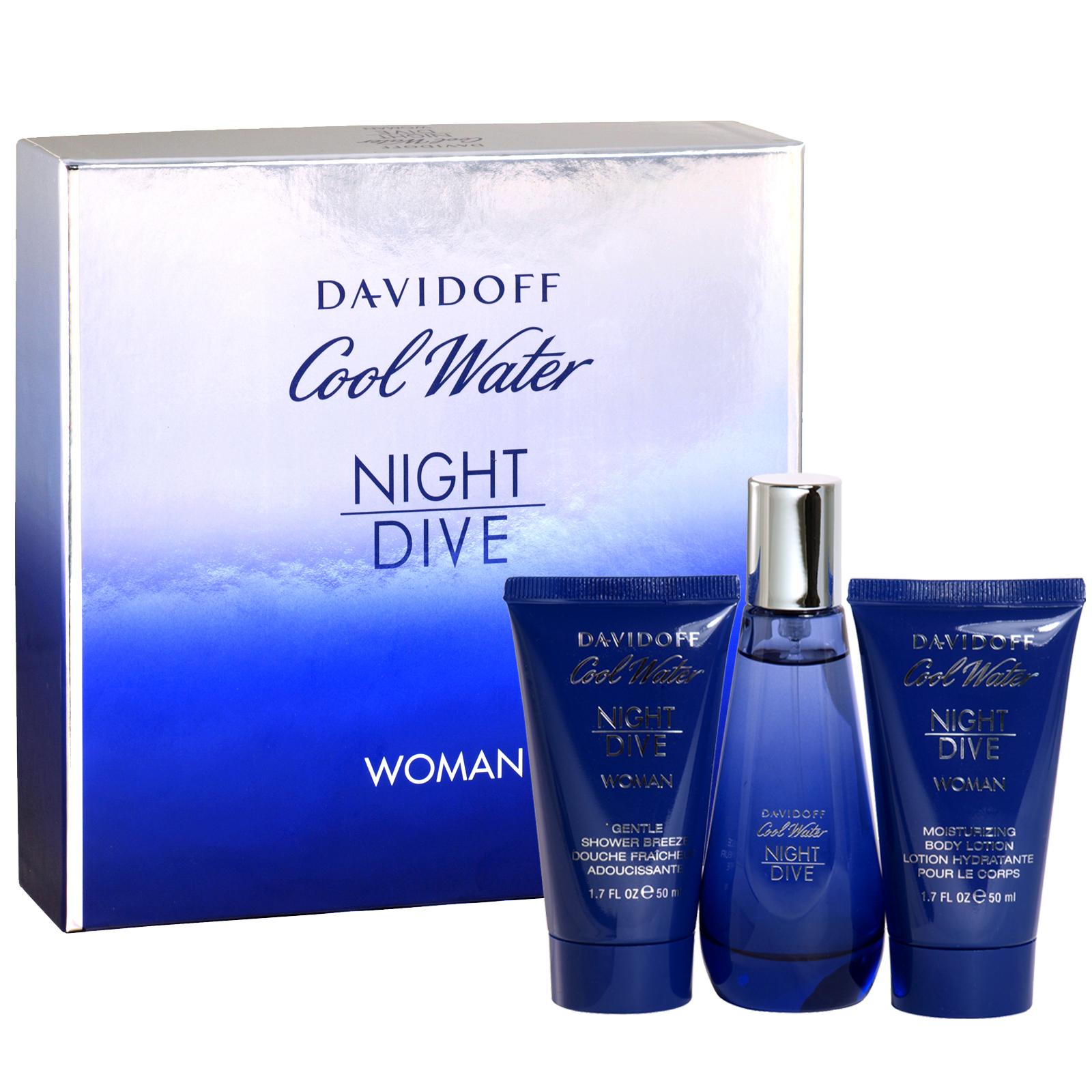 DAVIDOFF COOL WATER NIGHT DIVE LADIES 3PC SET