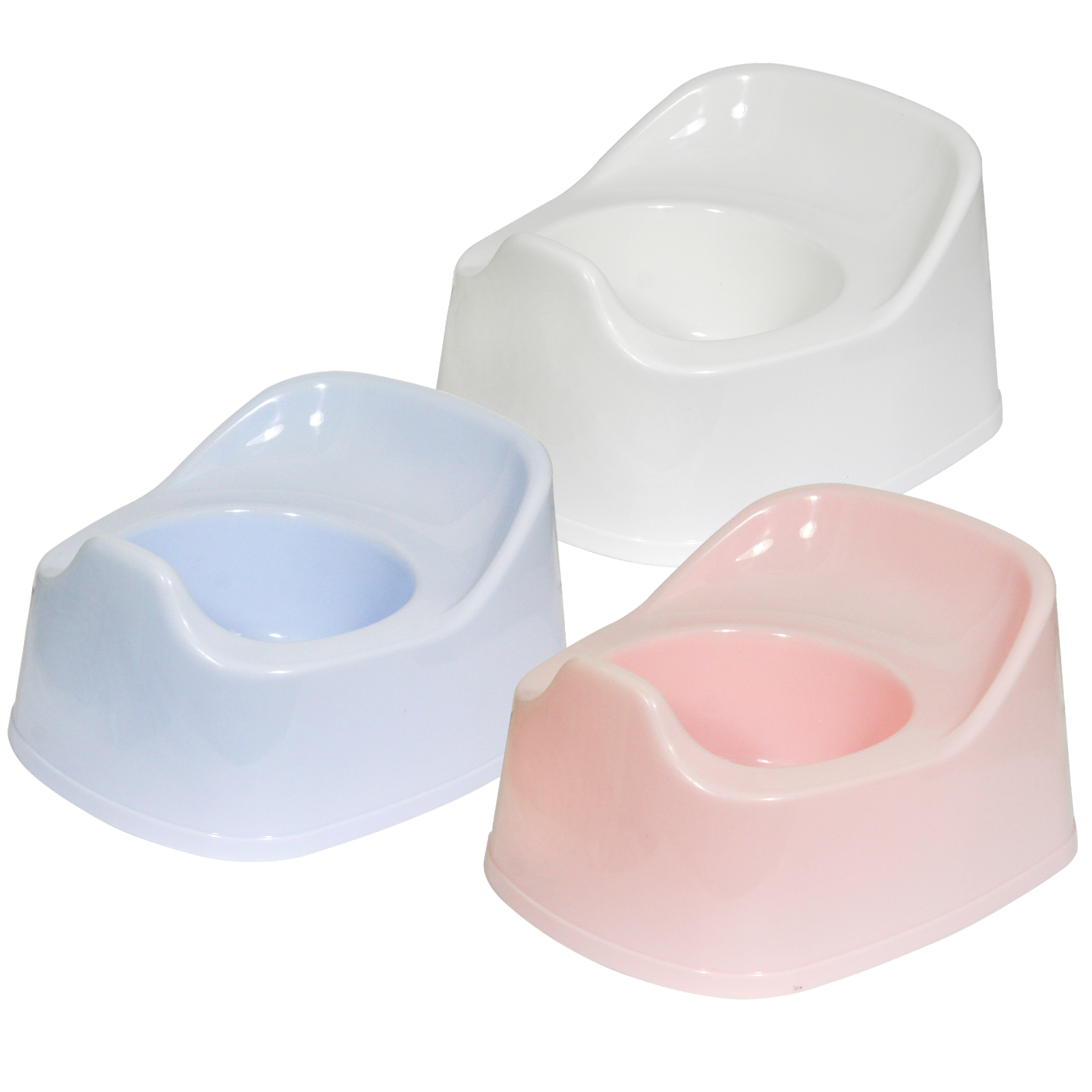 FIRST STEPS BABY POTTY PINK/BLUE/WHITE