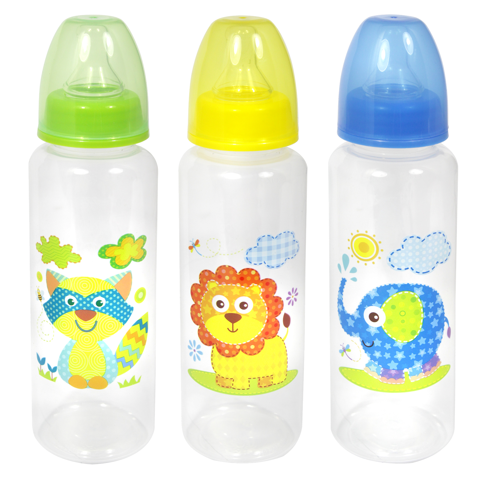 FIRST STEPS BABY BOTTLE 250ML JUNGLE 3ASS