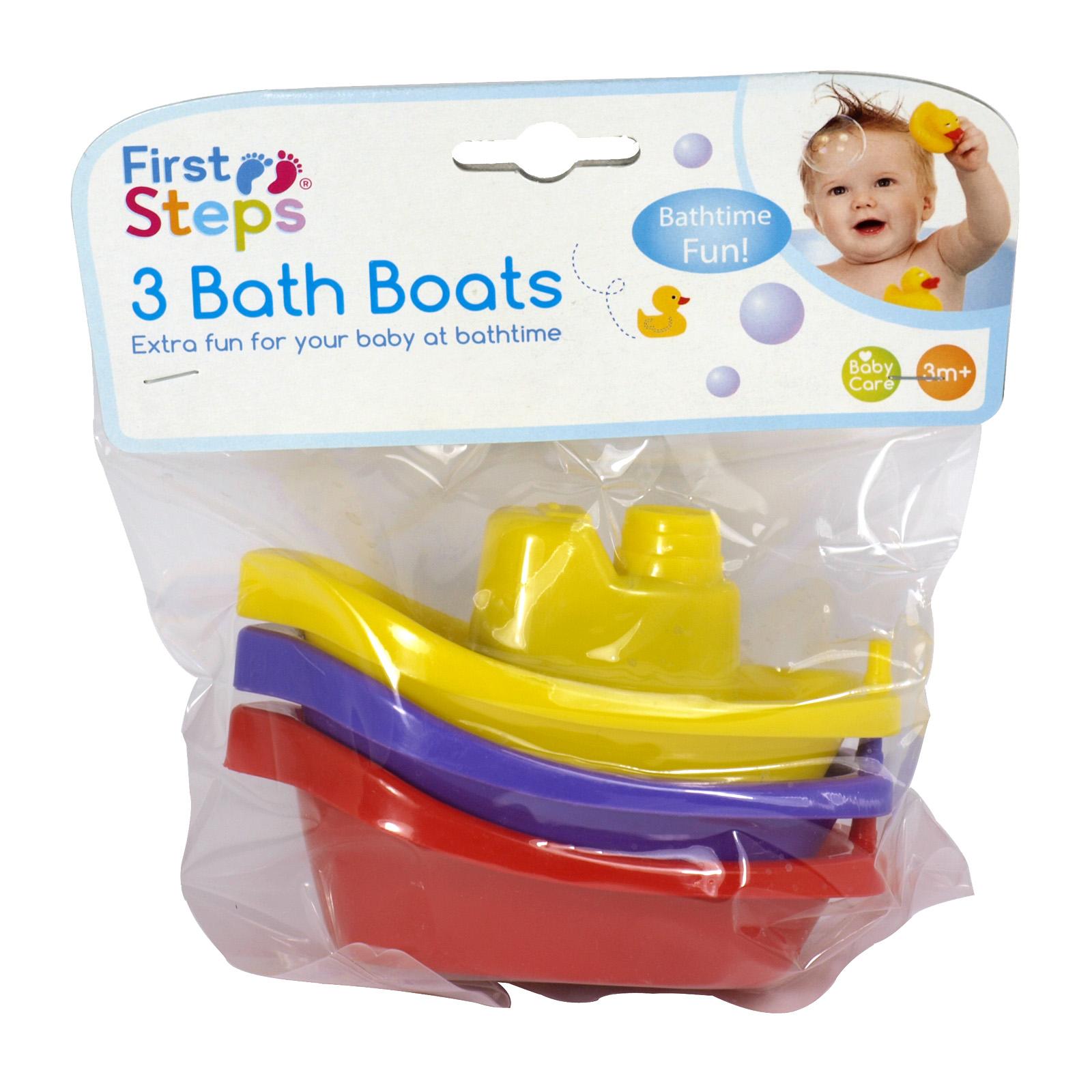 FIRST STEPS 3PK BATH BOATS