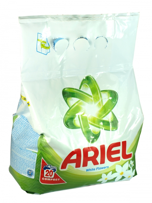 ARIEL POWDER 20 WASH WHITE FLOWERS X10
