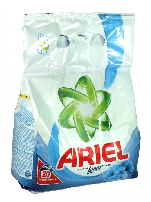 ARIEL POWDER 20 WASH+LENOR FRESH X10