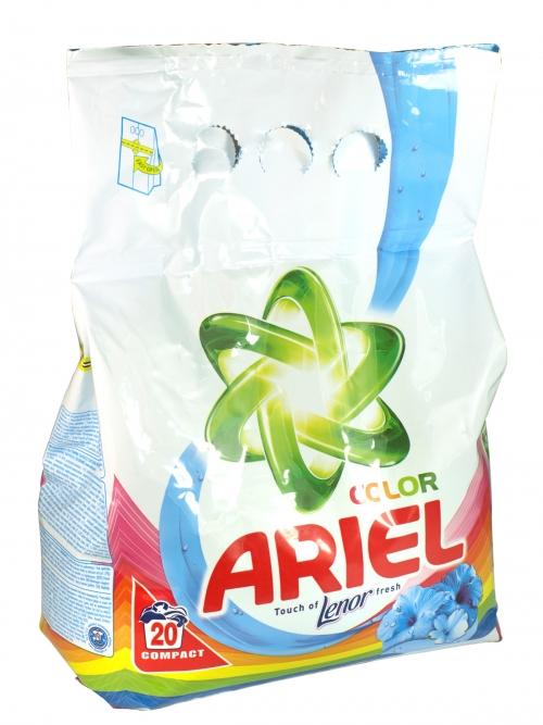 ARIEL POWDER 20 WASH+LENOR COLOR X10