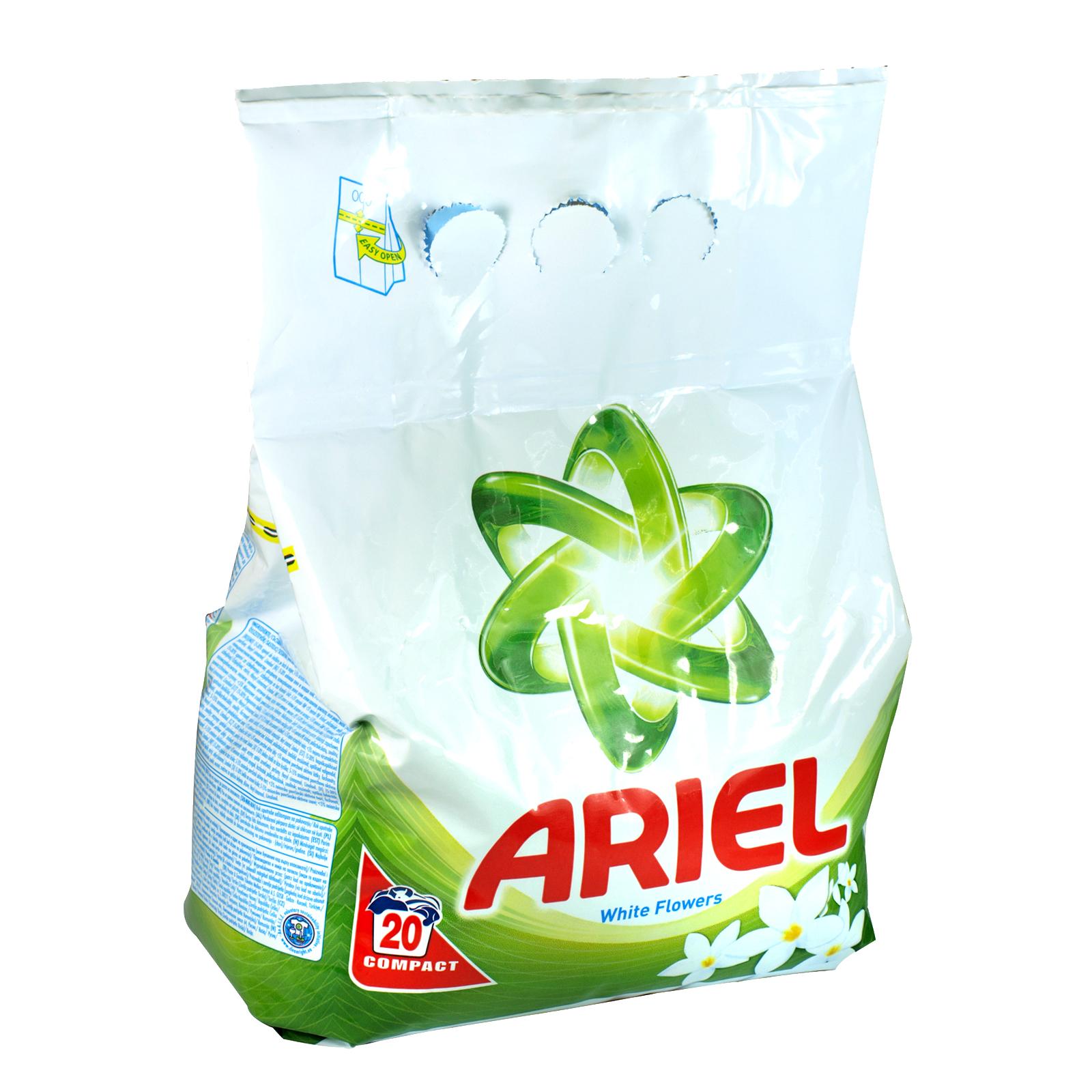 ARIEL POWDER 20 WASH WHITE FLOWERS
