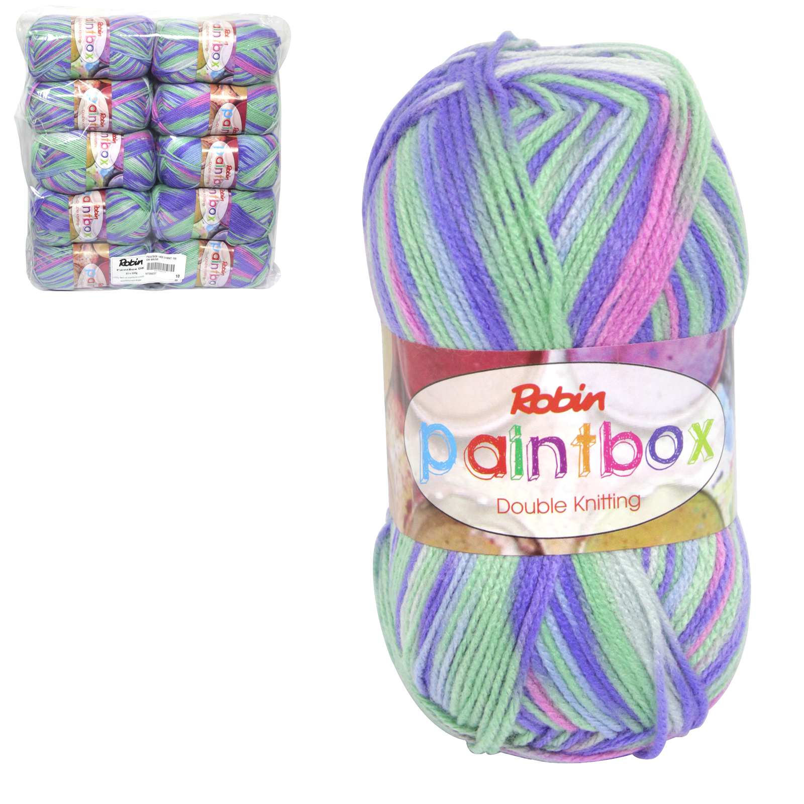 PAINTBOX 1455 DOUBLE KNIT 100GM WOOL MAUVE X10