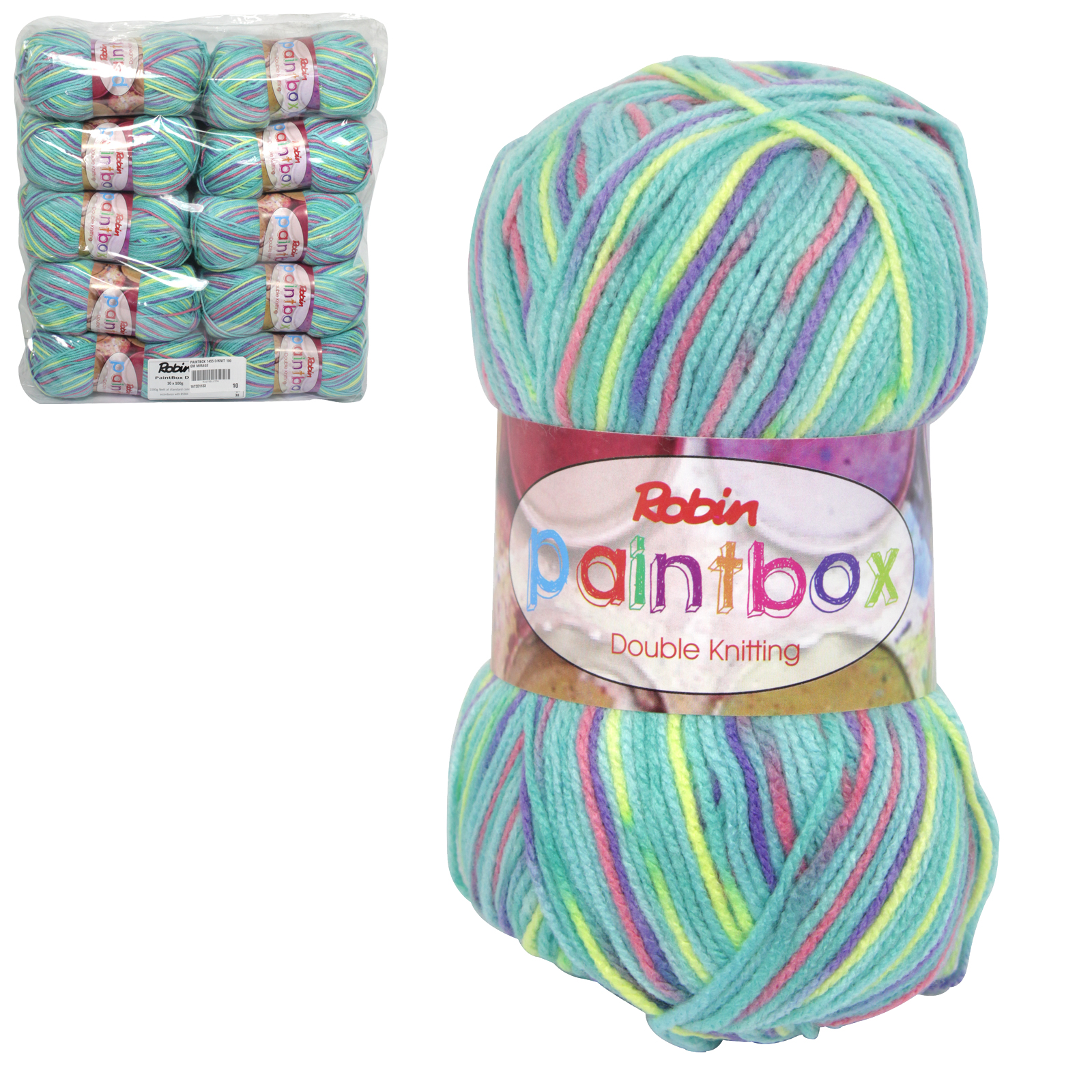 PAINTBOX 1455 DOUBLE KNIT 100GM WOOL MIRAGE X10