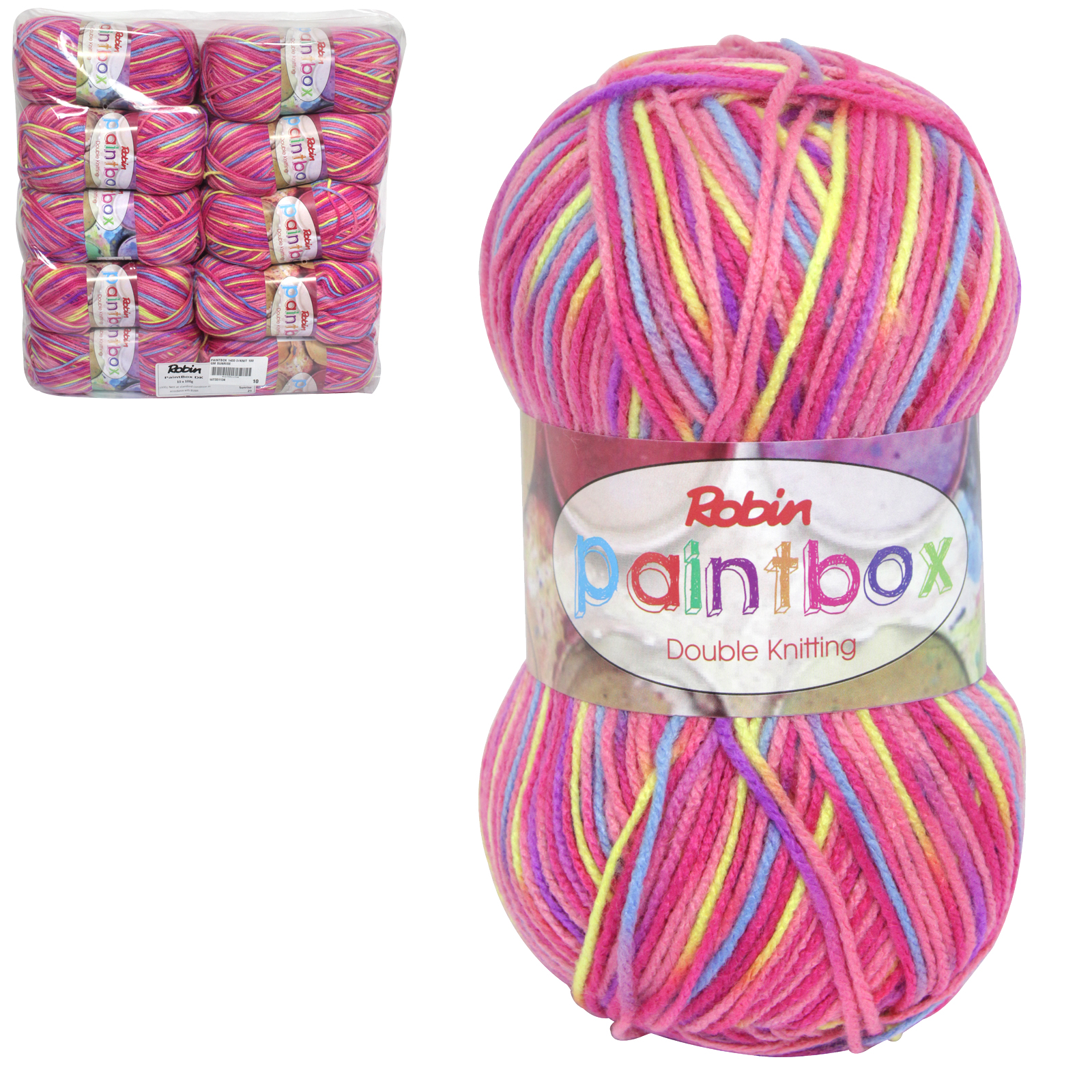 PAINTBOX 1455 DOUBLE KNIT 100GM WOOL SUNRISE X10