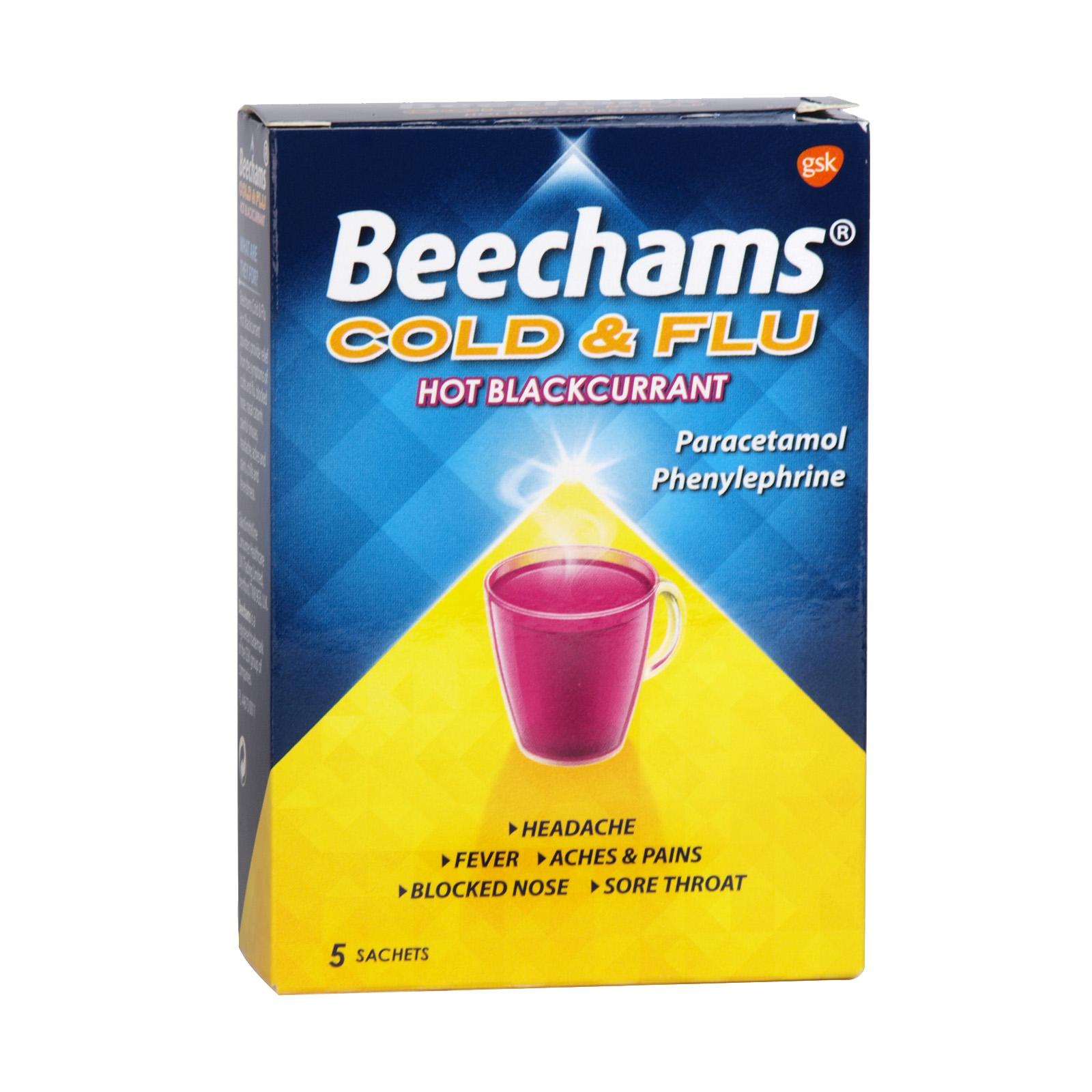 BEECHAMS COLD+FLU 5S BLACKCURRANT X6