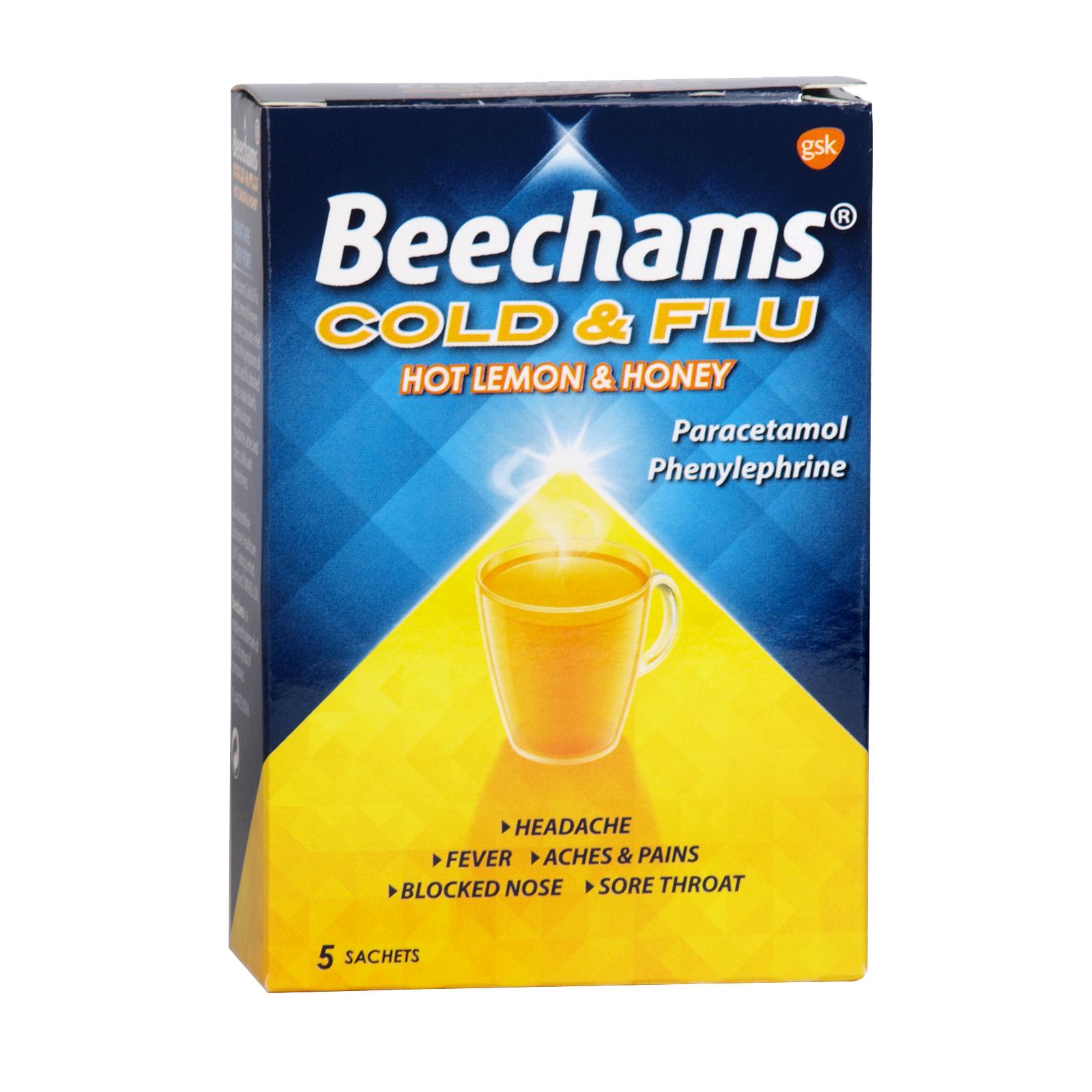 BEECHAMS COLD+FLU 5S HONEY & LEMON X6
