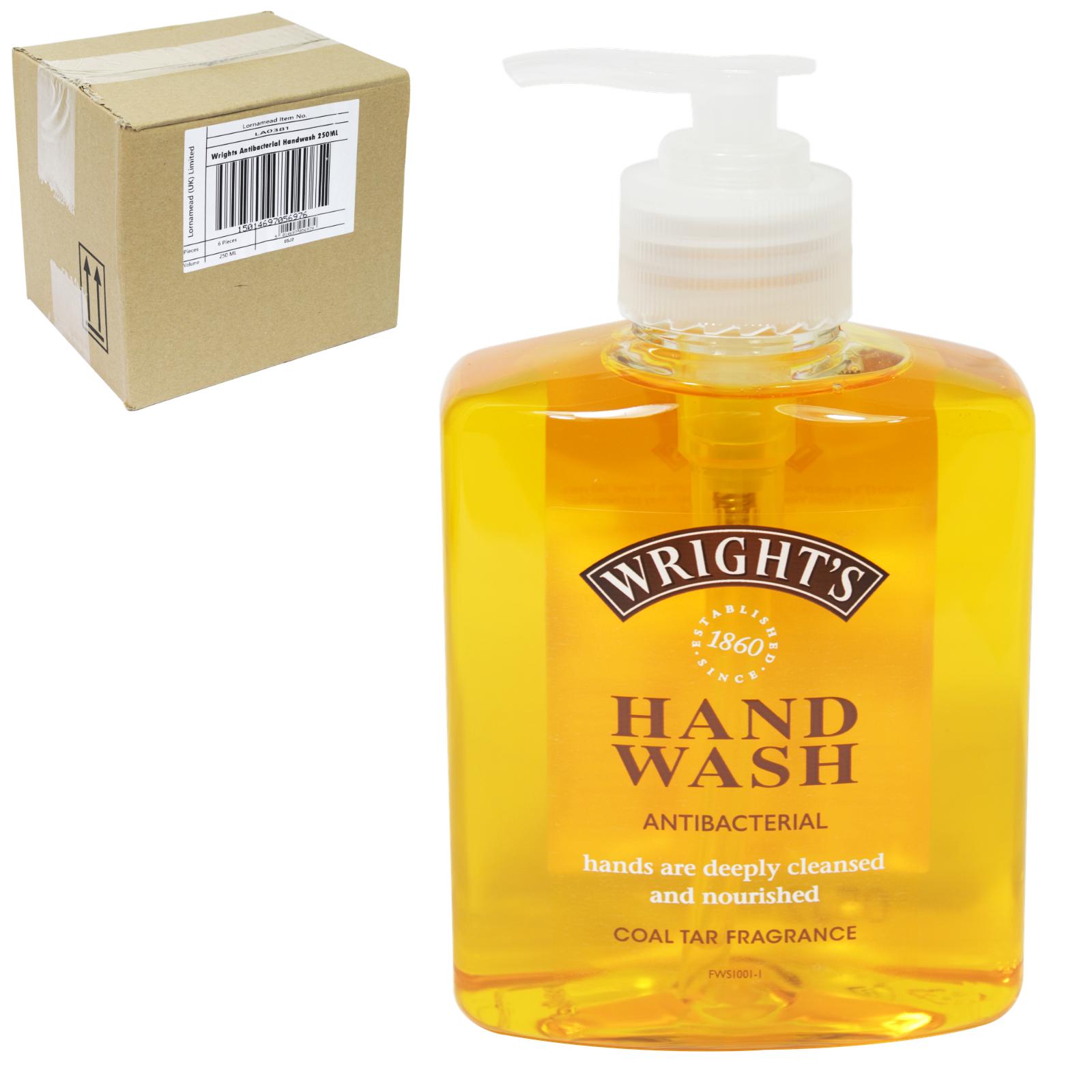 WRIGHTS COAL TAR 250ML LIQUID SOAP X6