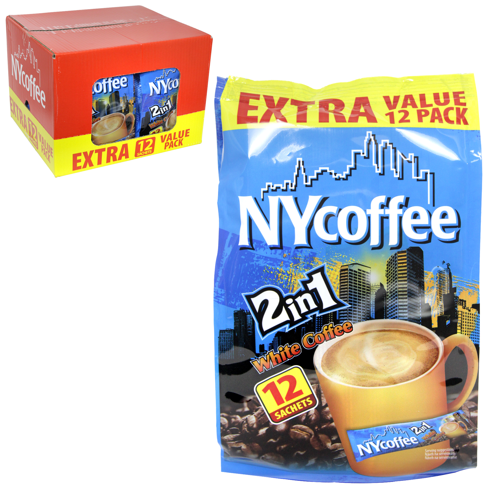 NY COFFEE 2IN1  12 SACHET PACK X10