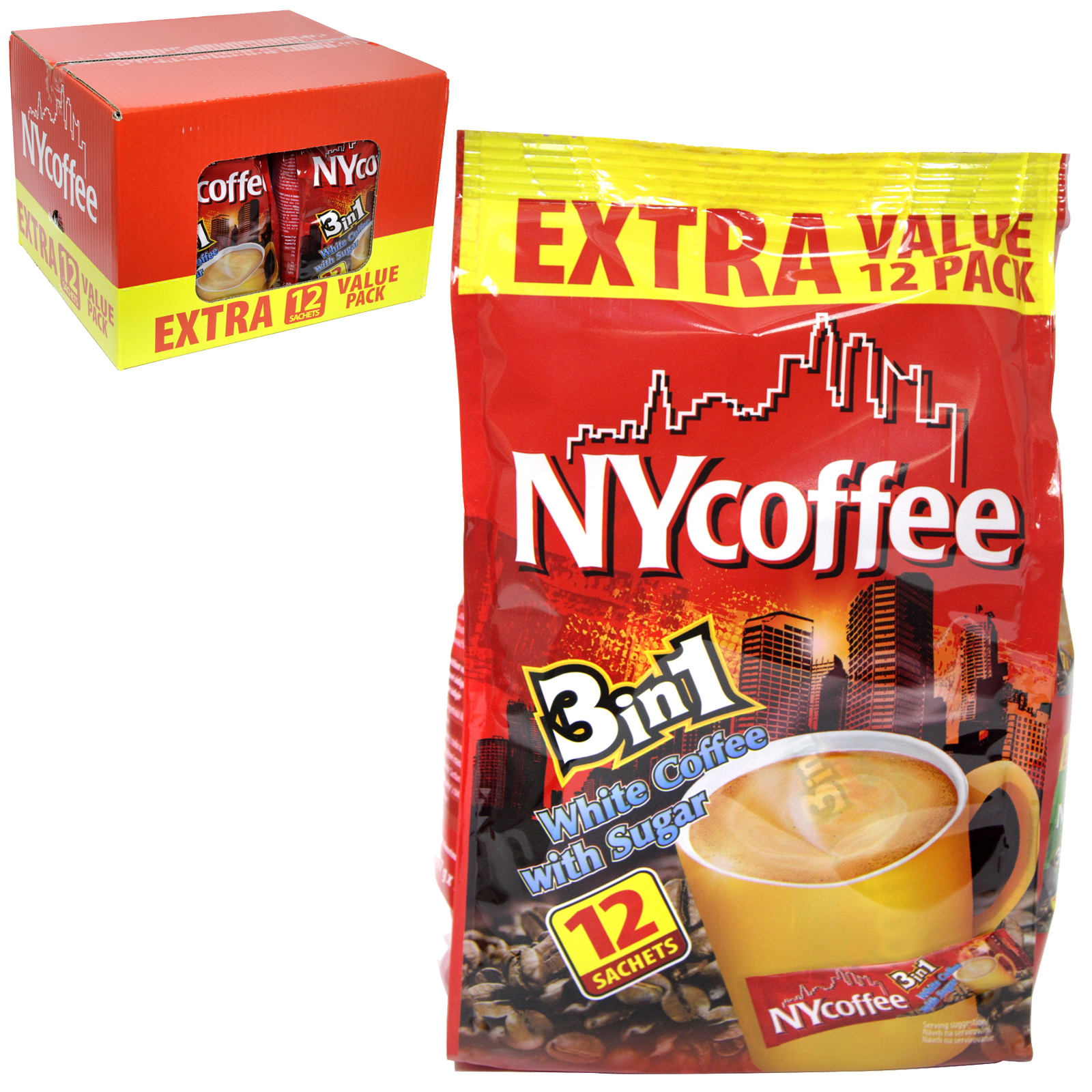 NY COFFEE 3IN1 12 SACHET PACK X10