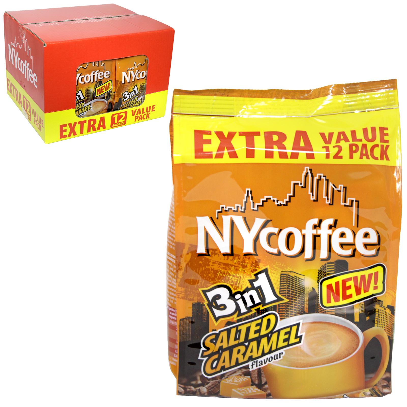 NY COFFEE  CARAMEL 12 SACHETS 3 IN 1 X10