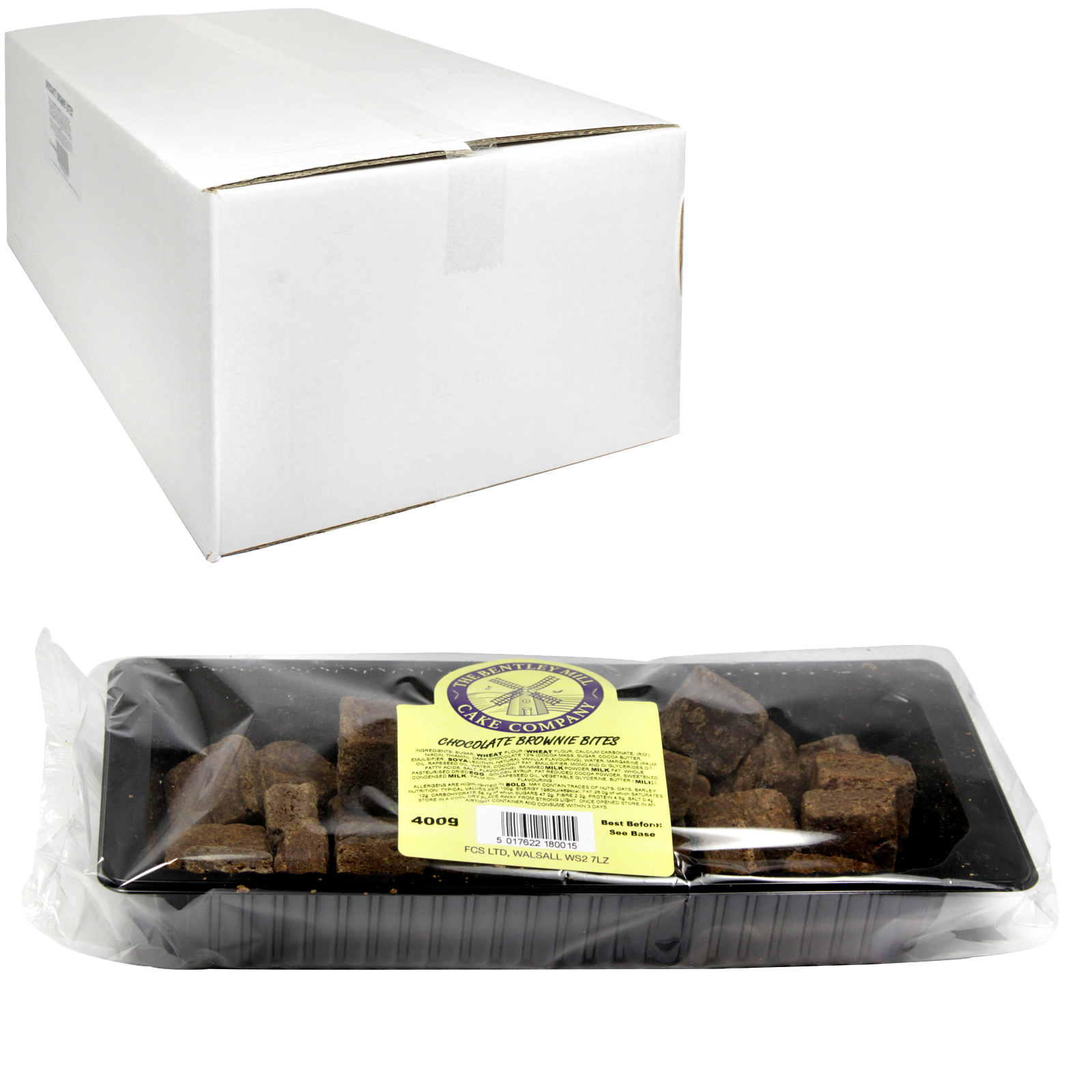 BENTLEY MILL CHOCOLATE BROWNIE BITES 400G X16