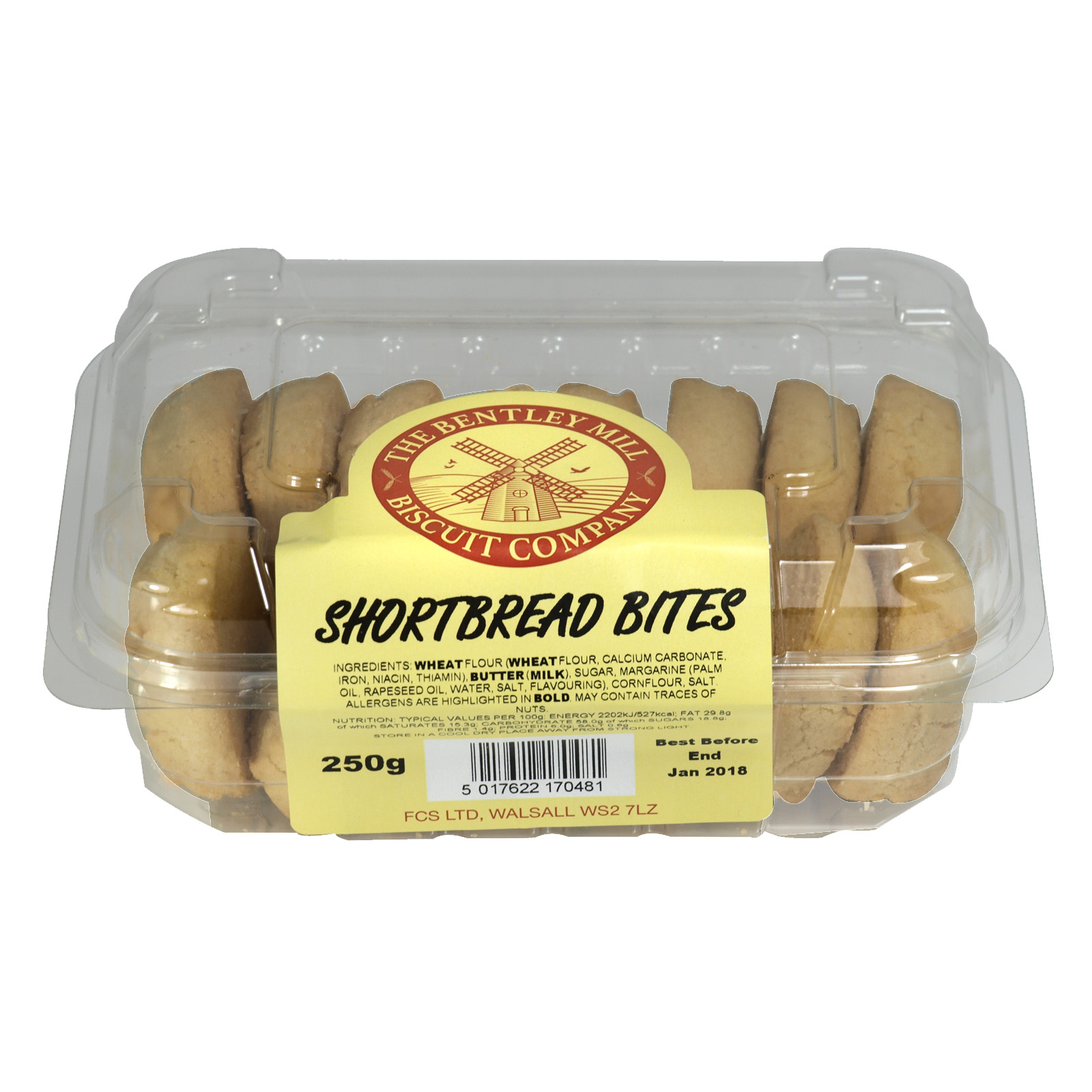 BENTLEY MILL SHORTBREAD BITES 300G X8