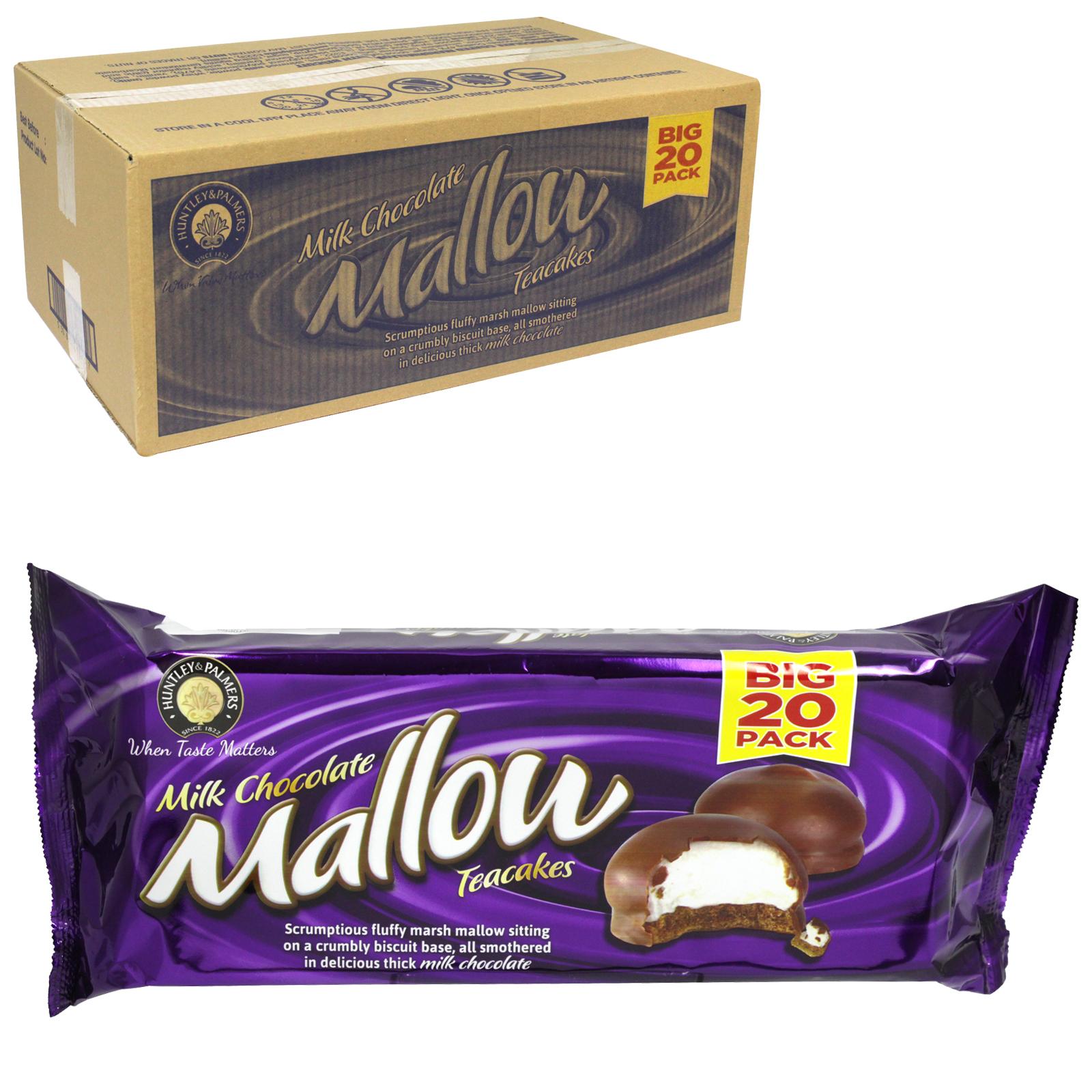 HUNTLEY & PALMER CHOCOLATE MALLOW TEA CAKES X12