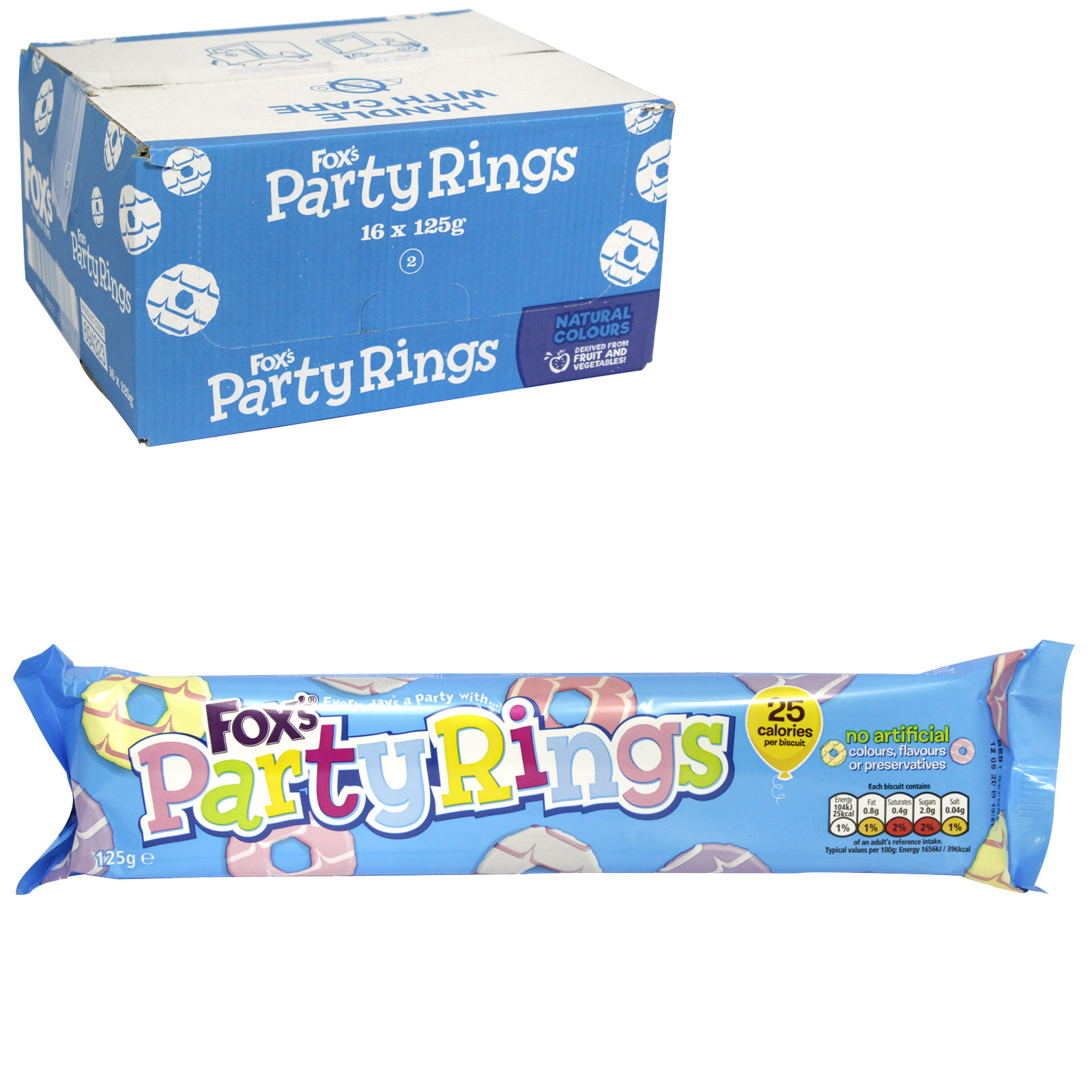 FOXS PARTY RING BISCUIT X16