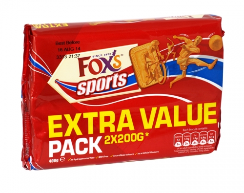 FOXS SPORTS BISCUITS 2X200GM X10