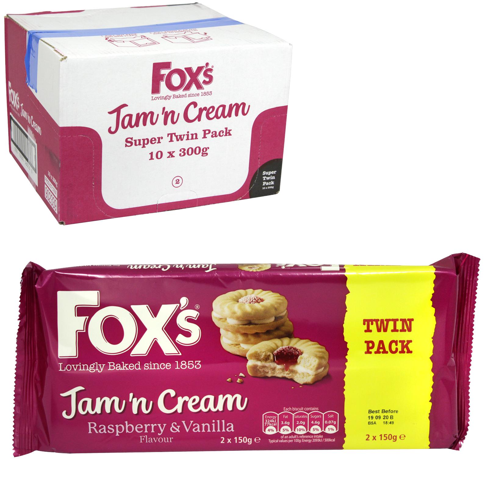 FOXS JAM & CREAMS 2X150GM X10